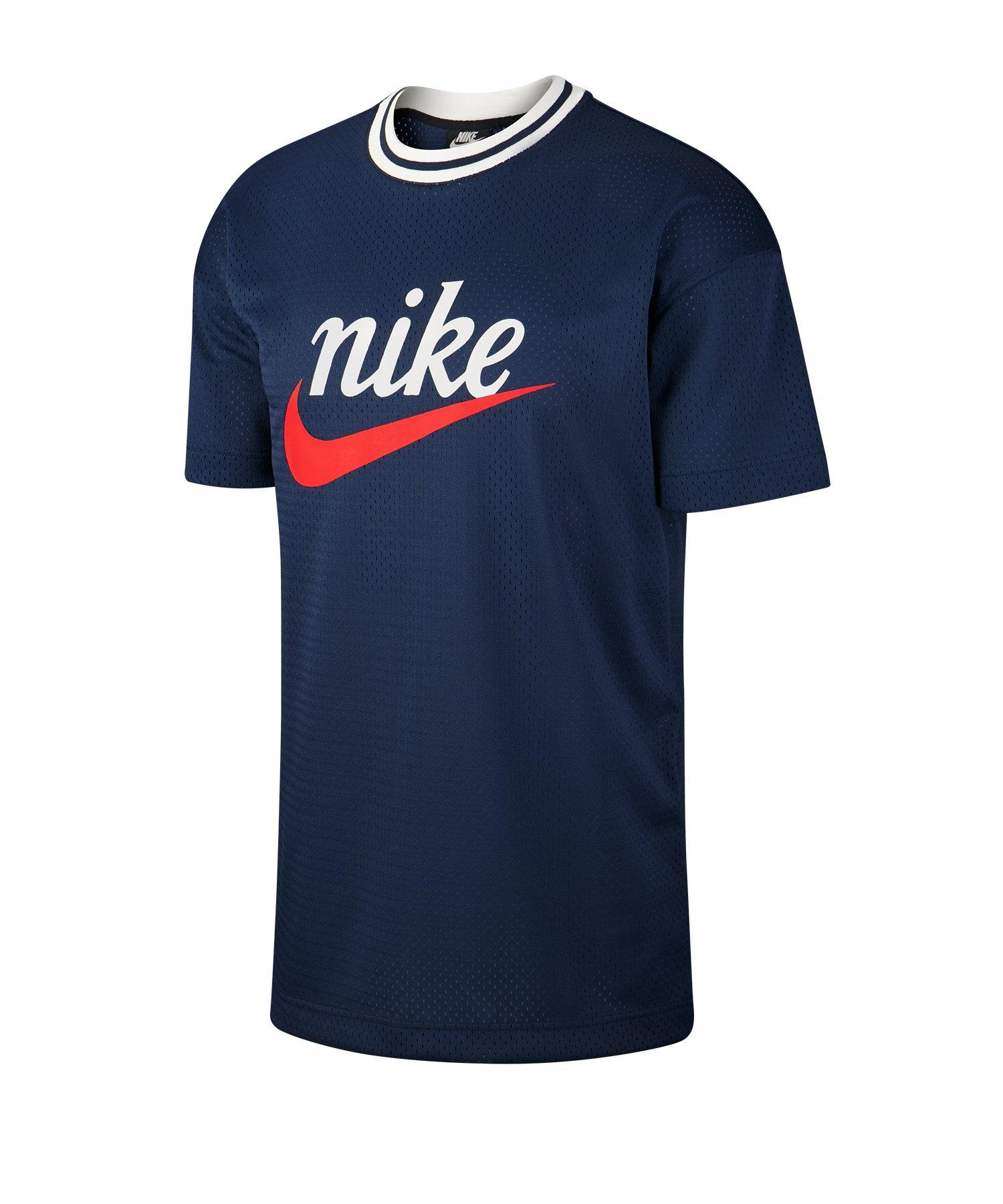 Nike Mesh Graphic Top T-Shirt Blau F410 - blau
