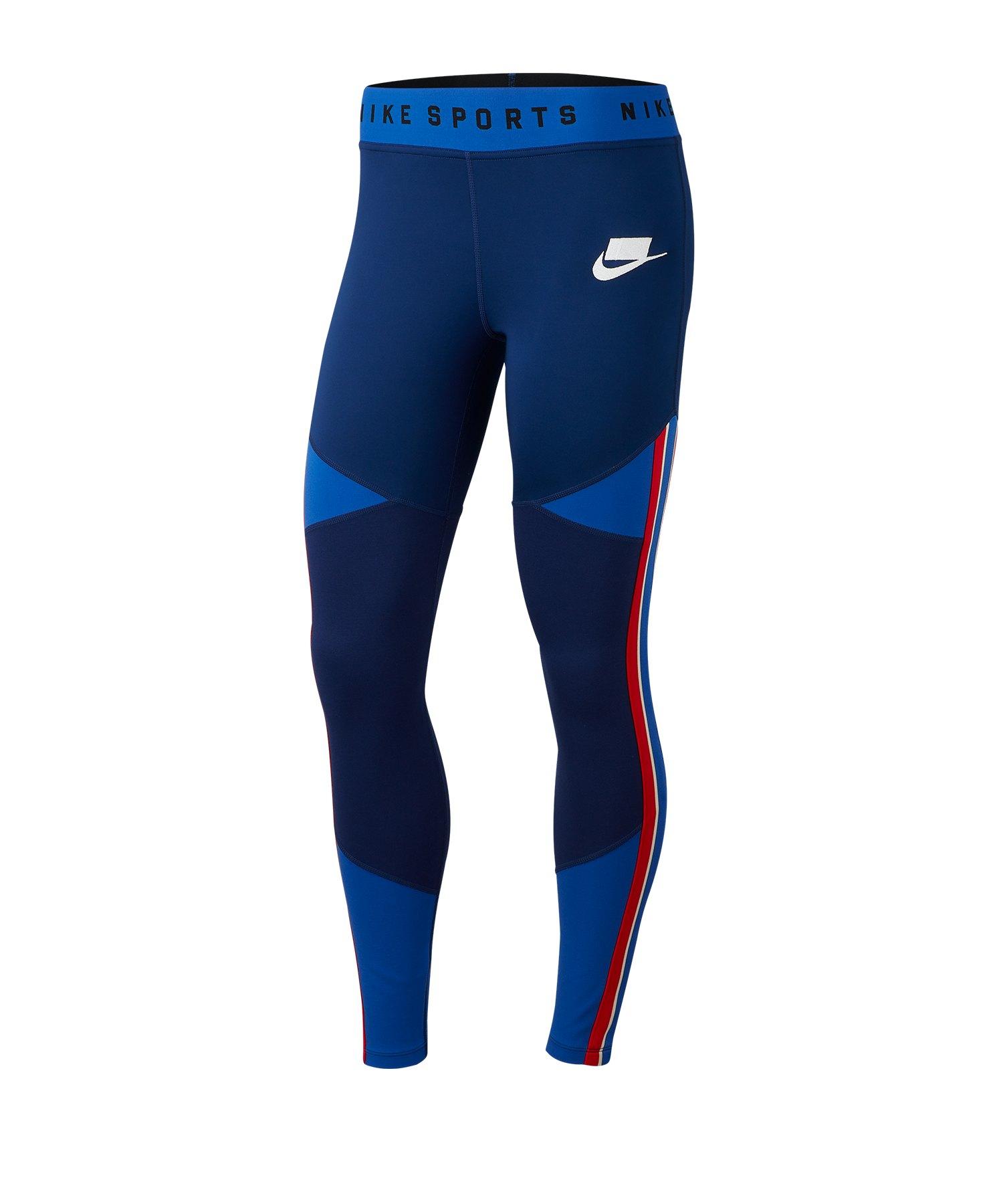 Nike Graphic Legging Damen Blau F492 - blau
