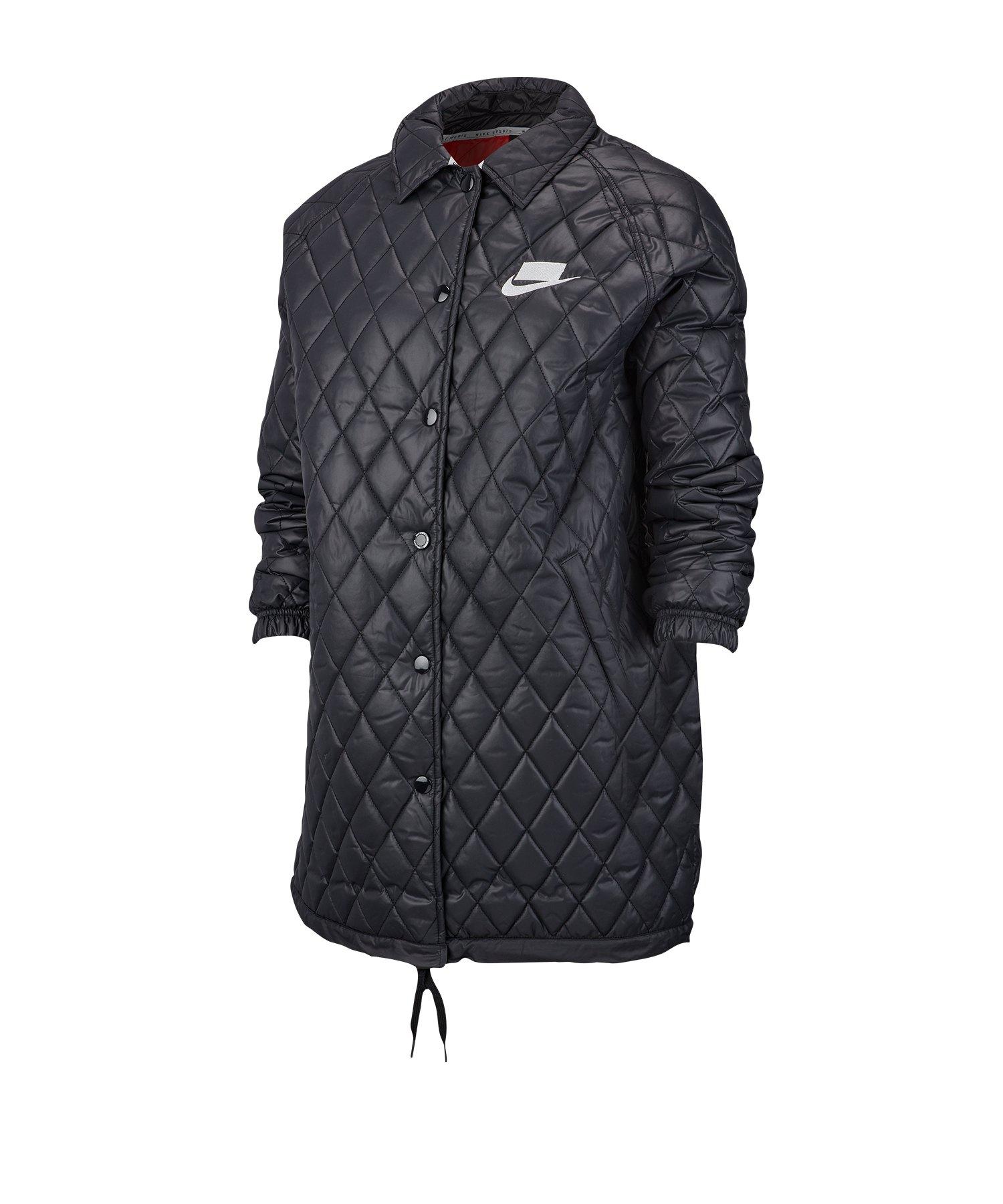 Nike Quilted Jacket Jacke Damen Schwarz F010 - schwarz