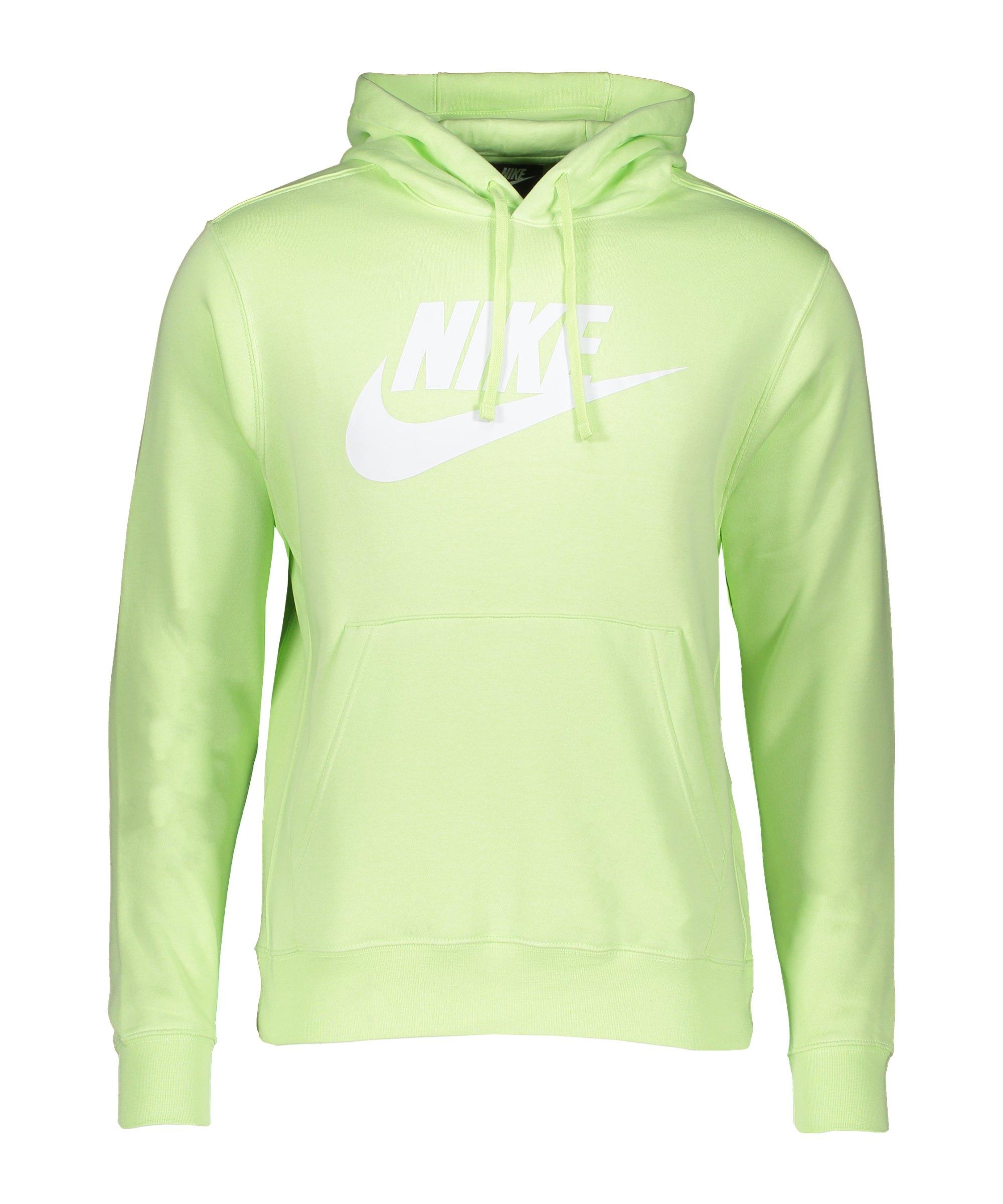 Nike Club Fleece Hoody Gelb F383 - gruen
