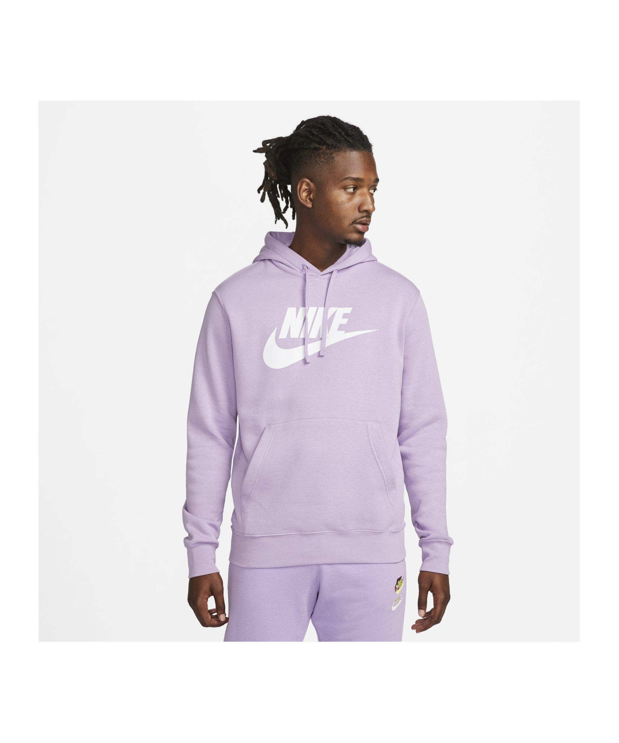 Nike Club Fleece Hoody Lila F590 - lila
