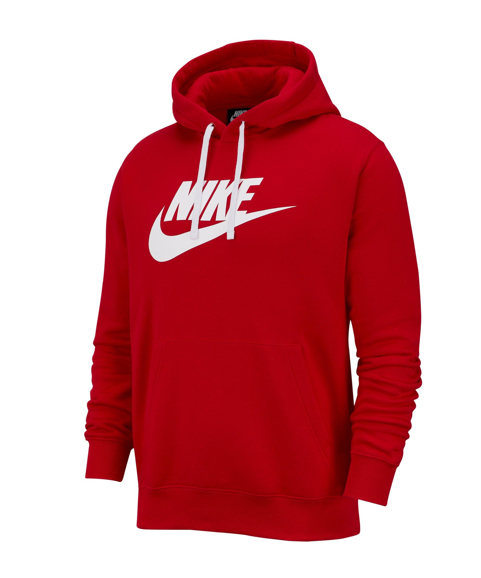 Nike Club Fleece Hoody Rot F657 - rot