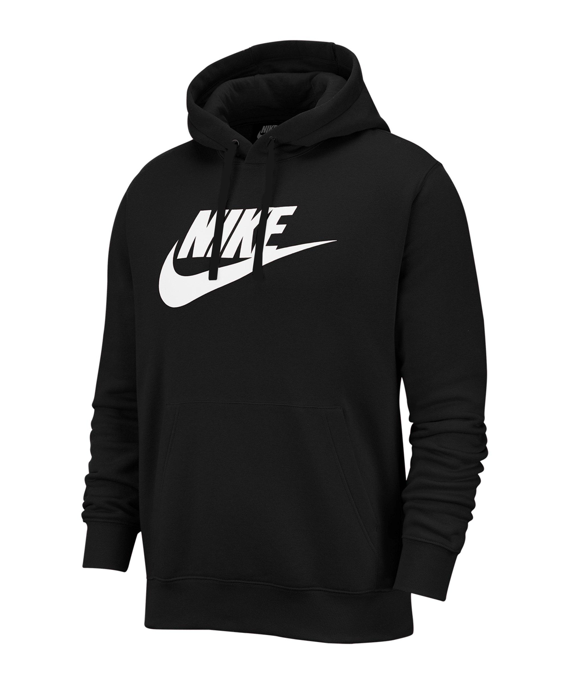 Nike Club Fleece Hoody Schwarz F010 - schwarz