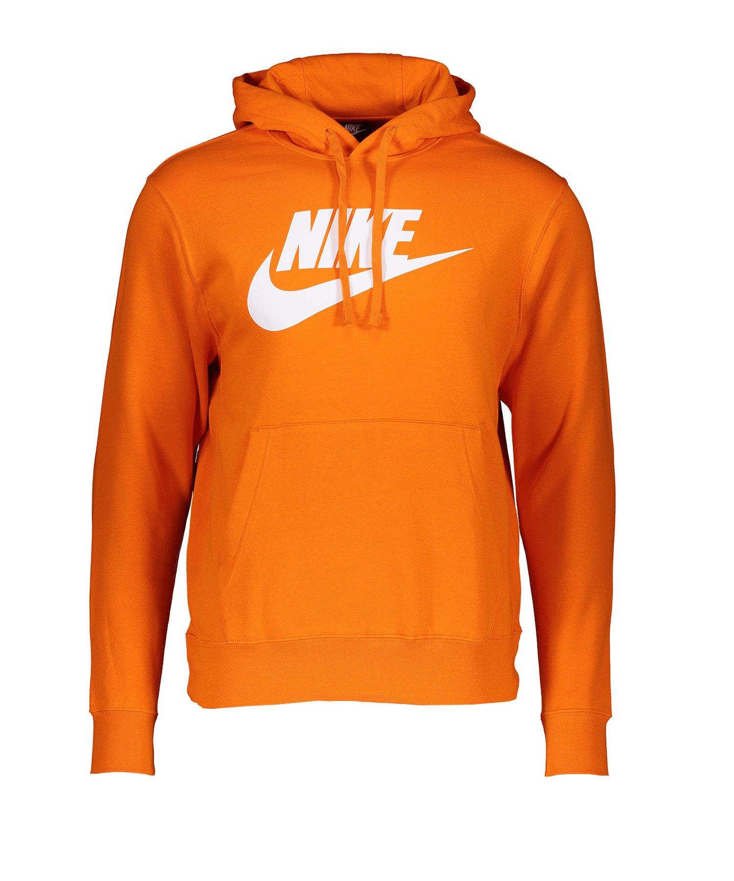 Nike Club Fleece Kapuzensweatshirt Orange F812 - orange