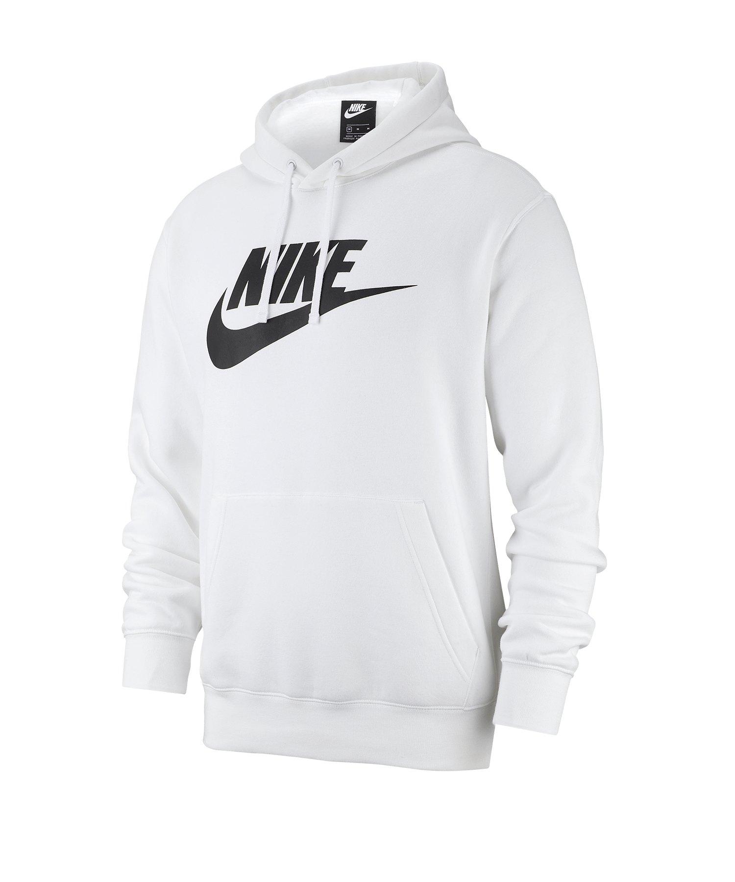 Nike Fleece Kapuzensweatshirt Hoody Weiss F100 - weiss