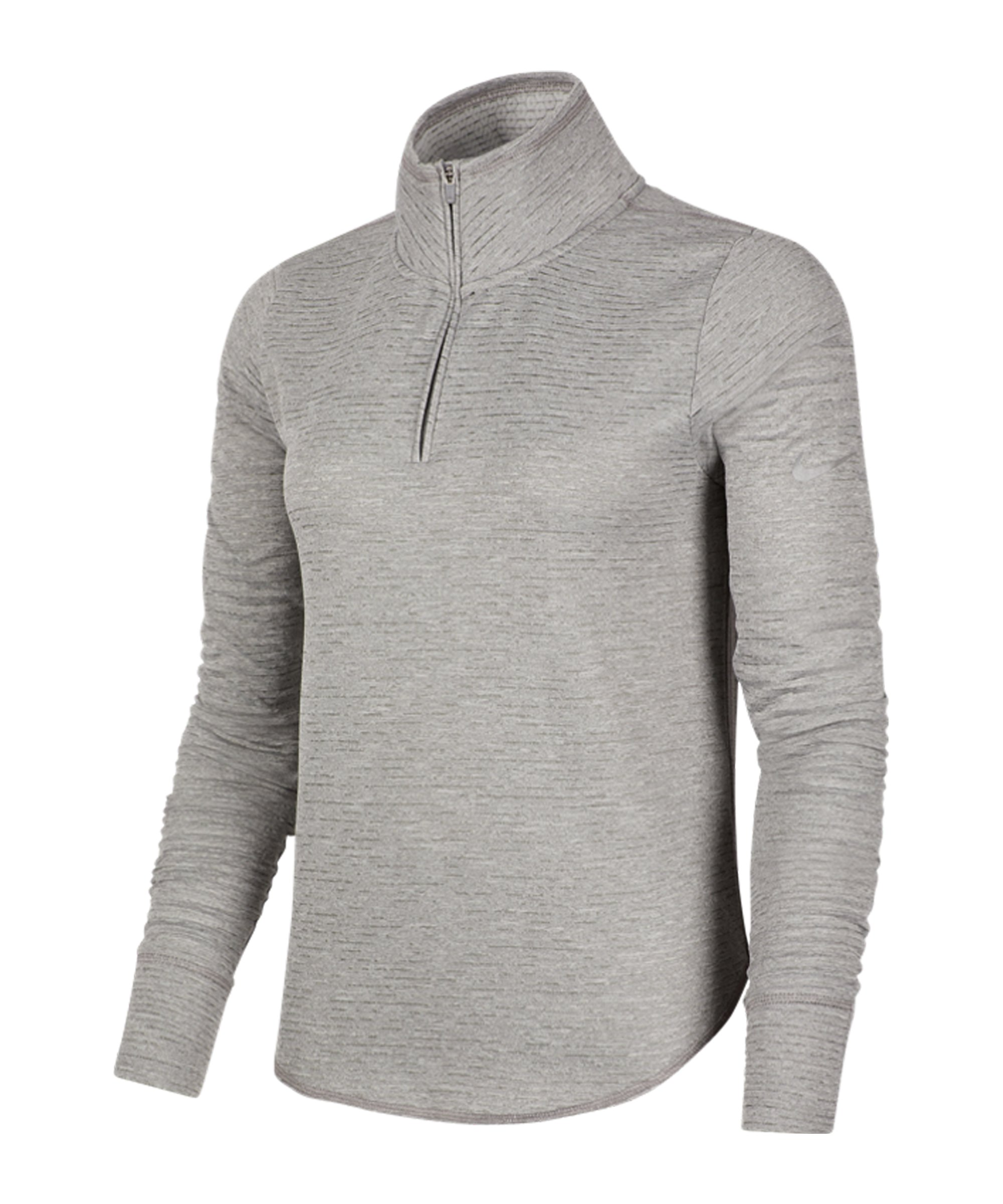 Nike Sphere Element 1/2 Zip Top Running Damen F073 - grau