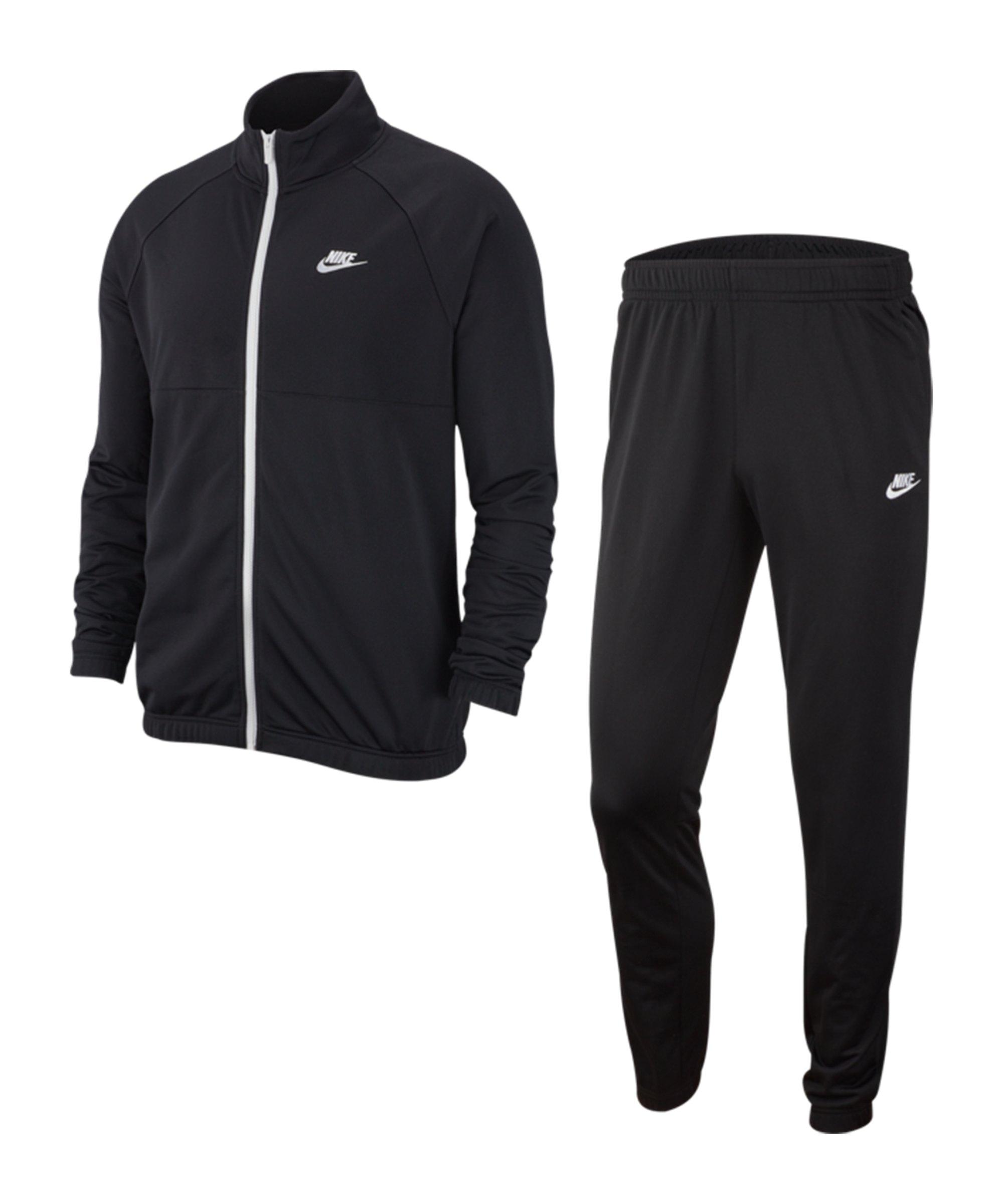 Nike Freizeitanzug Schwarz Weiss F011 - schwarz