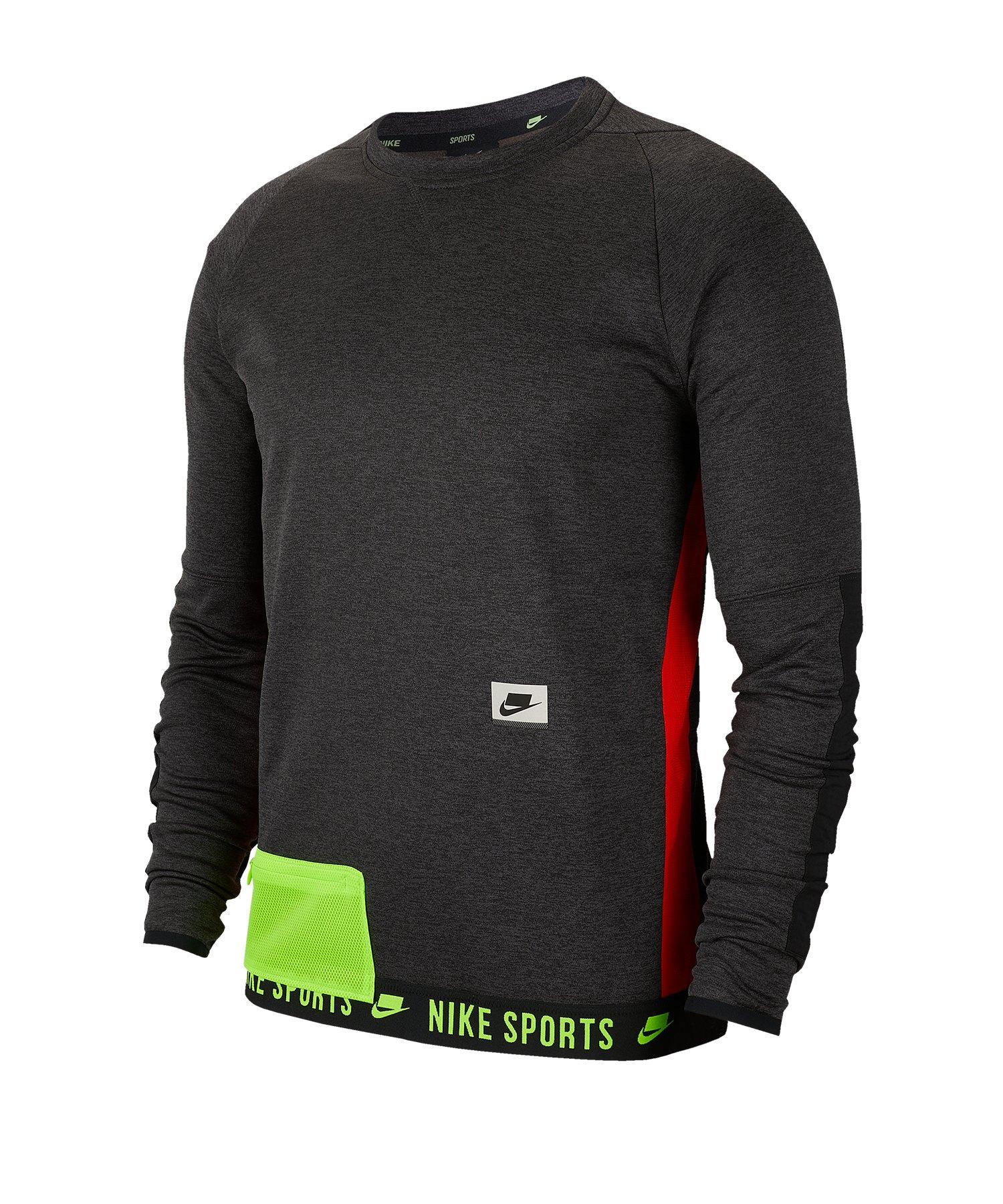 Nike Dri-FIT Therma Trainingsshirt langarm F010 - schwarz