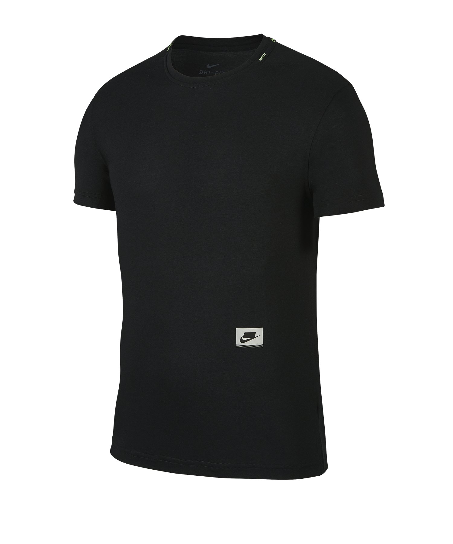 Nike Dri-FIT Training T-Shirt Running Schwarz F010 - schwarz