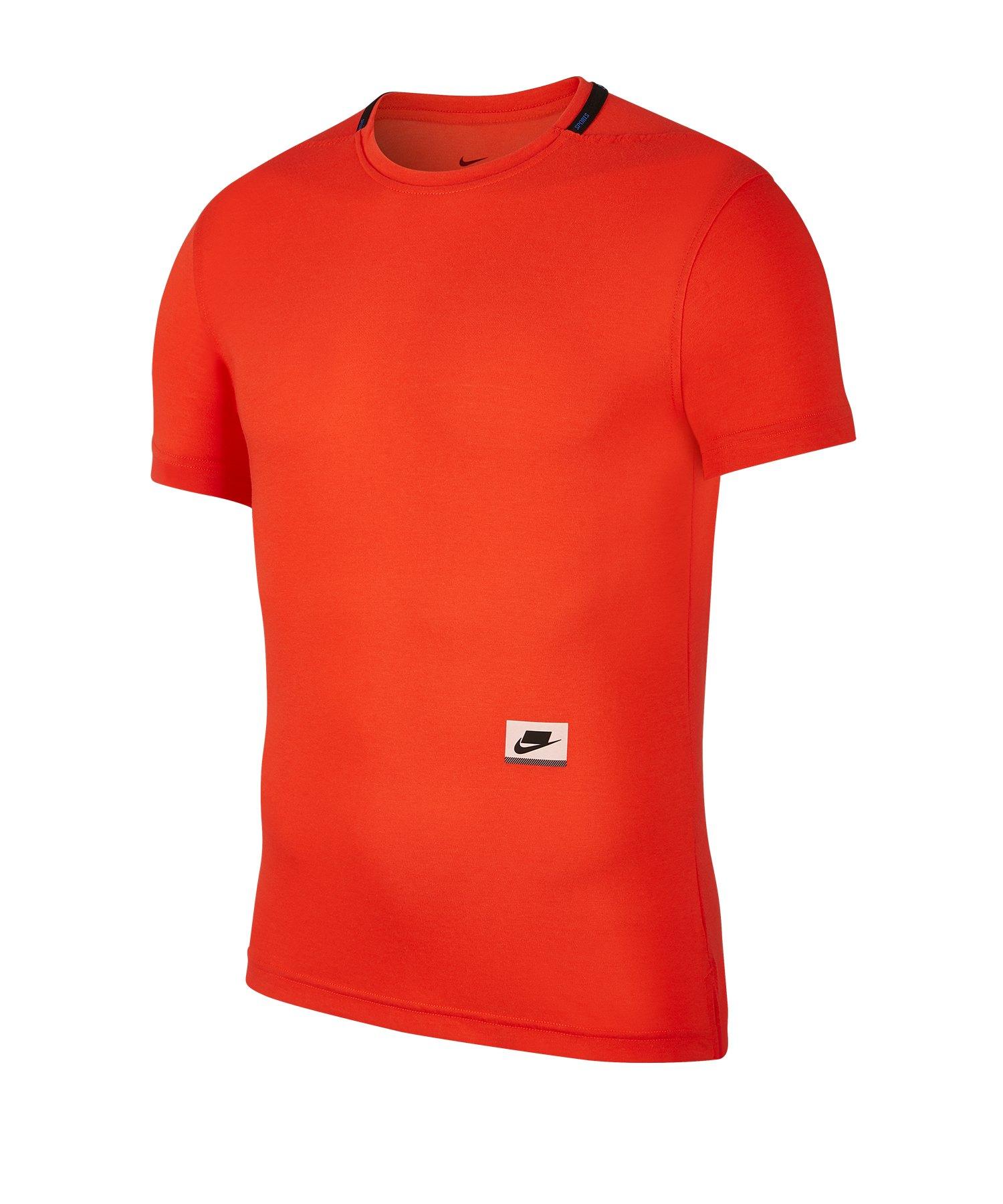 Nike Dri-FIT Training Tee T-Shirt Running Rot F634 - rot