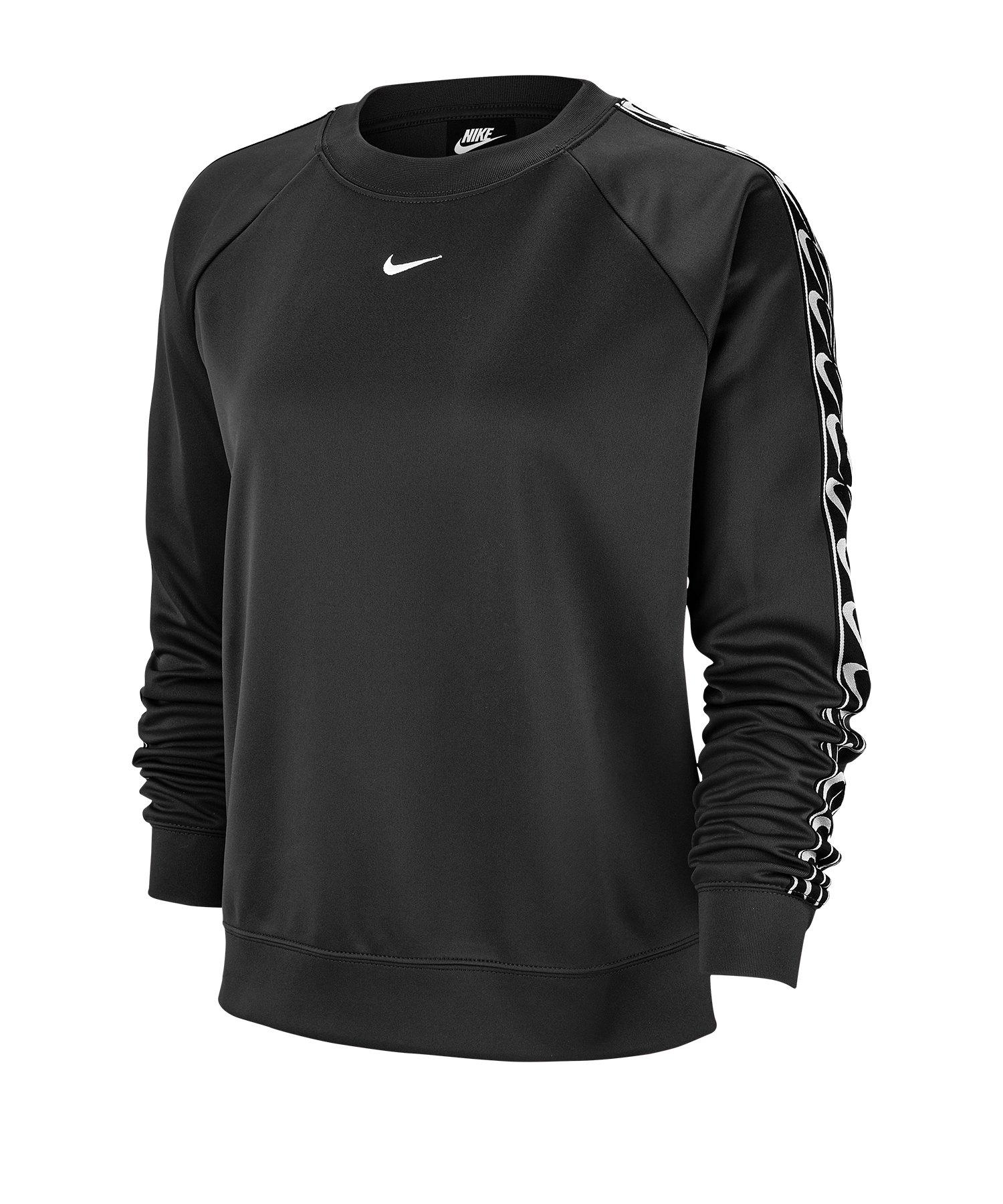 Nike Crew Logo Longsleeve Damen Schwarz F010 - schwarz