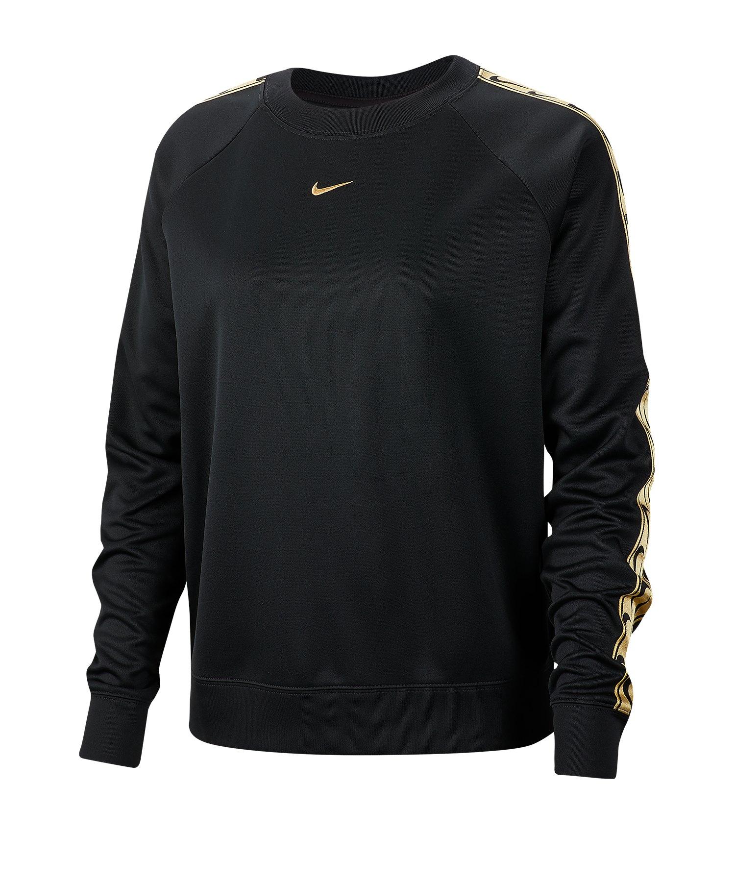 Nike Trainingsshirt langarm Damen Schwarz F011 - schwarz