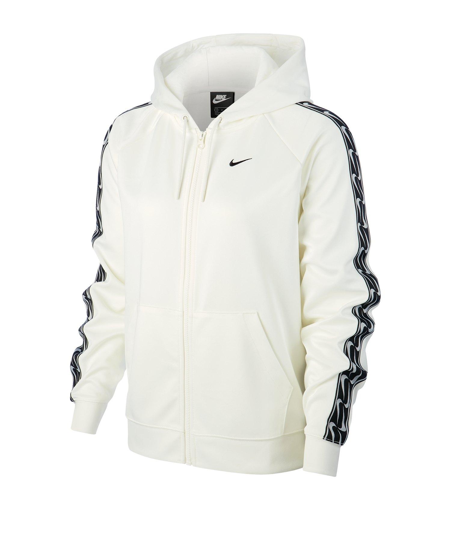 Nike Full-Zip Swoosh Kapuzenjacke Damen F010 - weiss
