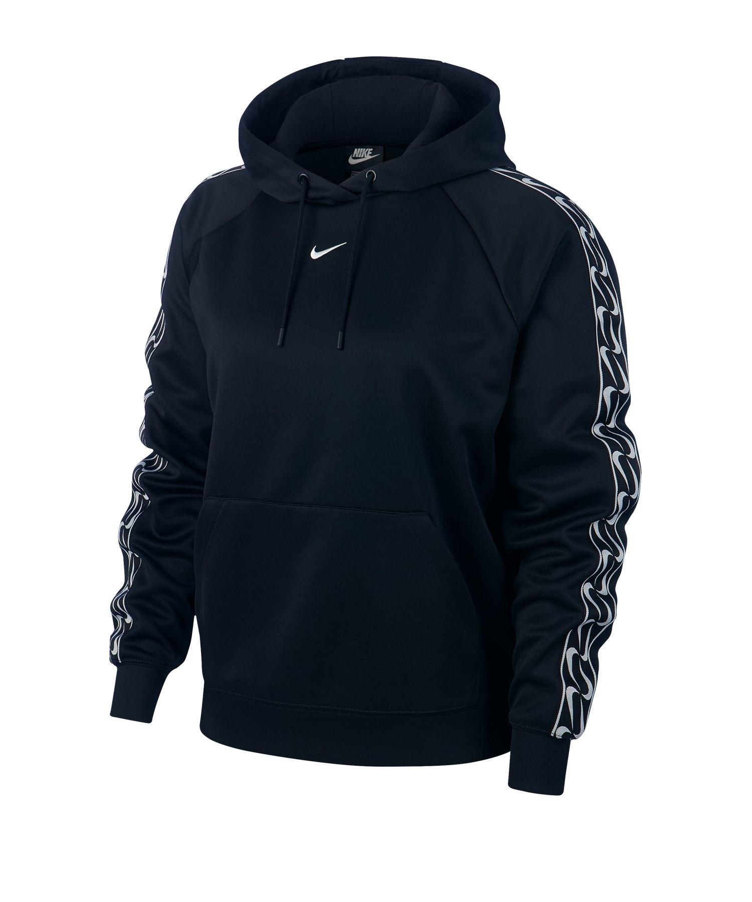 Nike Swoosh Hoody Kapuzenpullover Damen F010 - schwarz