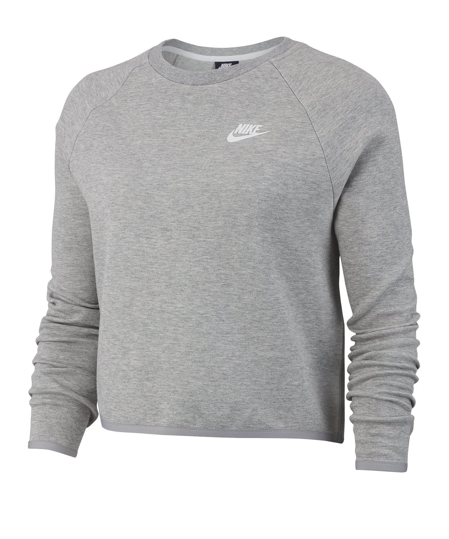 Nike Tech Crew Fleece Longsleeve Damen Grau F063 - grau