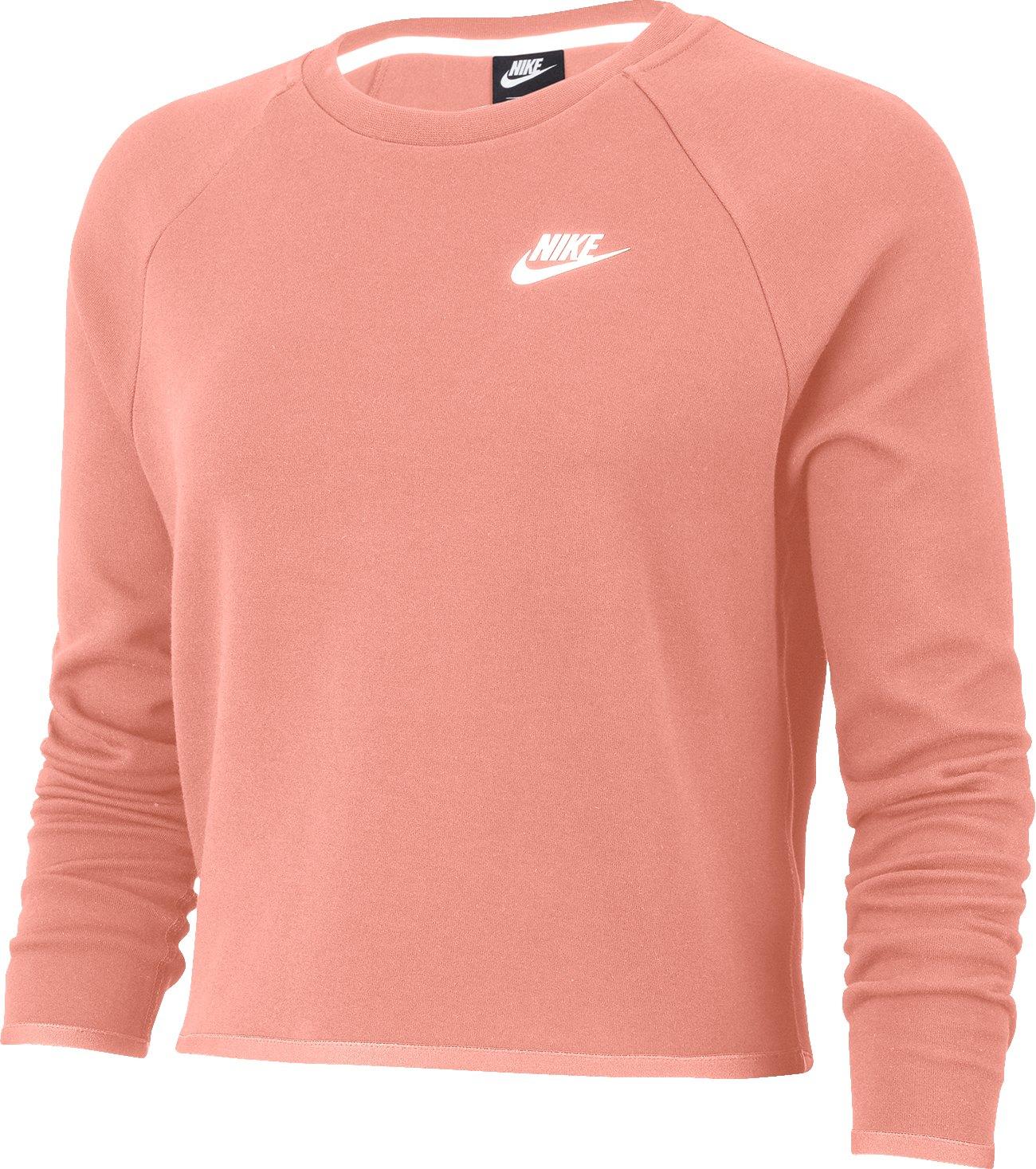 Nike Tech Crew Fleece Longsleeve Damen Pink F606 - pink