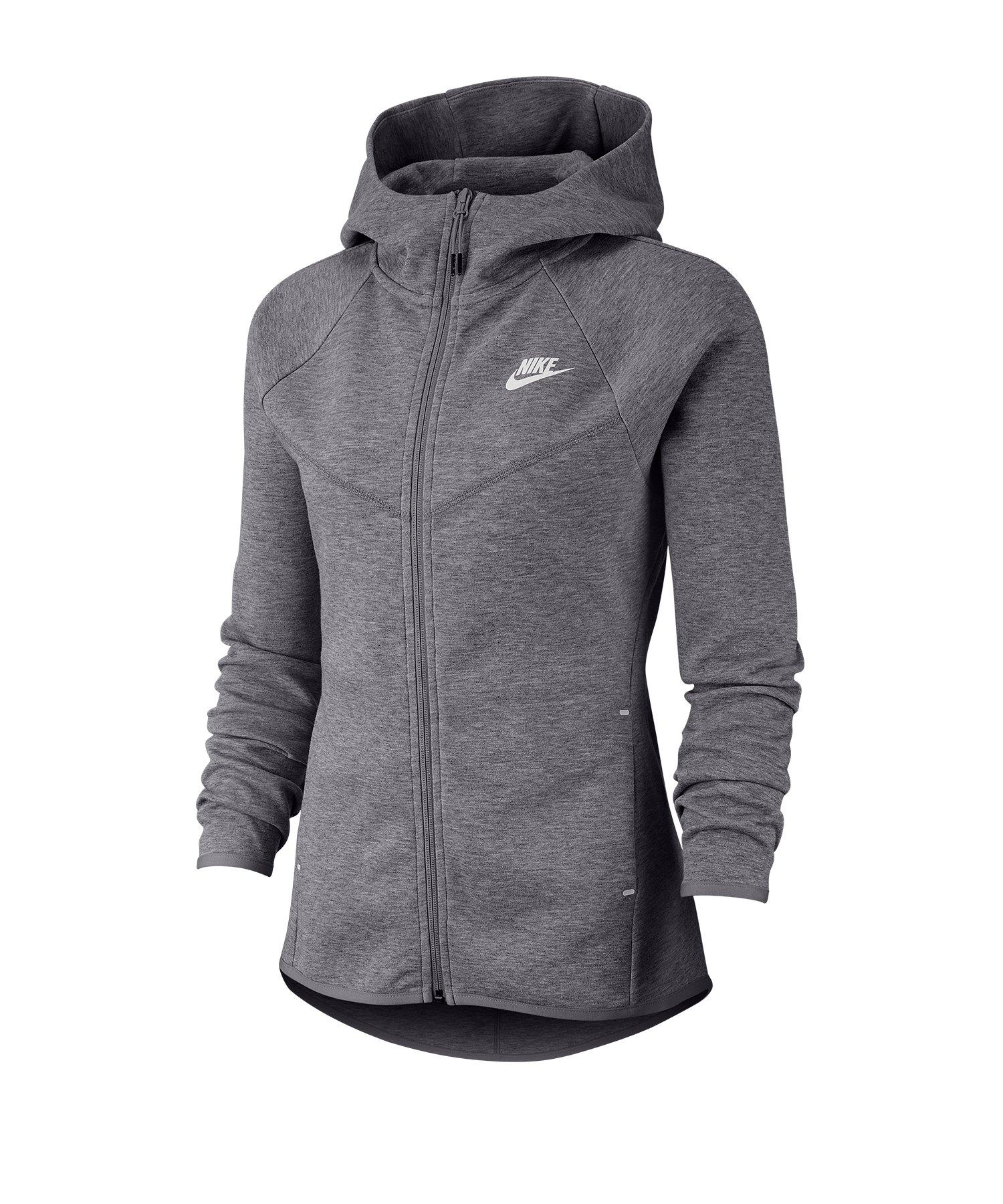 Nike Tech Fleece Kapuzenjacke Damen Grau F063 - grau