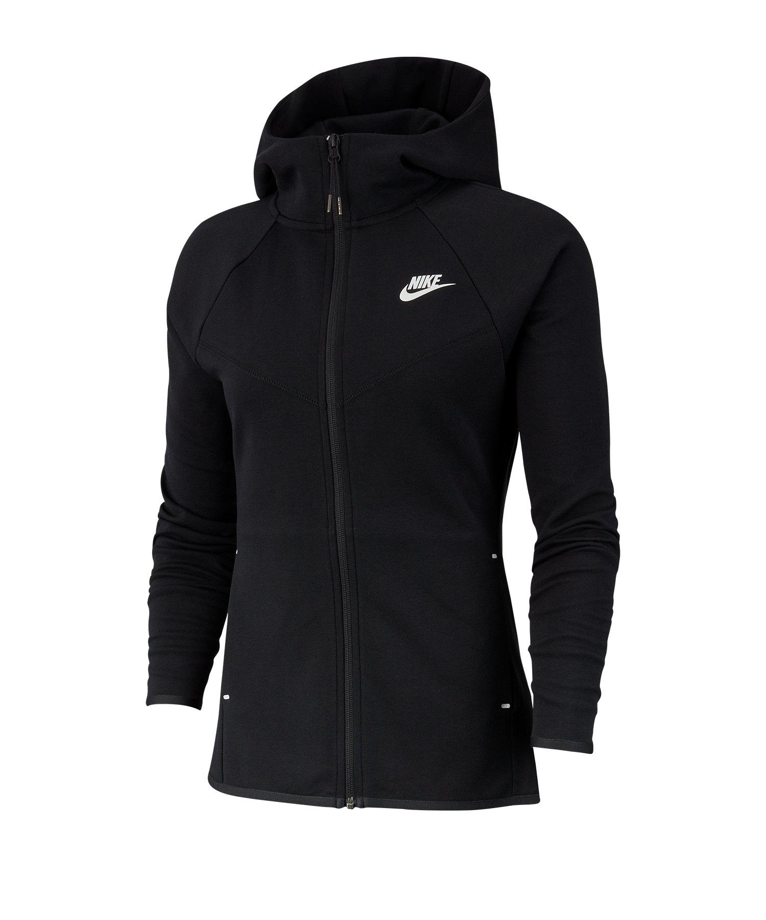 Nike Tech Fleece Kapuzenjacke Damen Schwarz F010 - schwarz