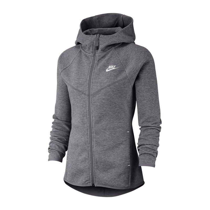 Nike Tech Fleece Windrunner Hoody Damen Grau F063 - grau