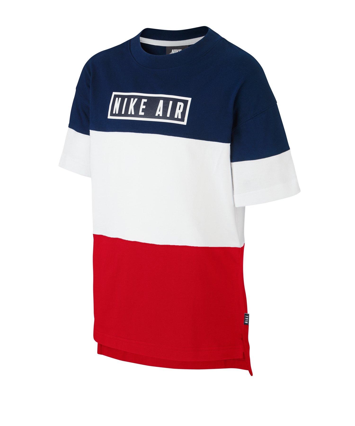 Nike Air Tee Top kurzarm Kids Blau F493 - blau