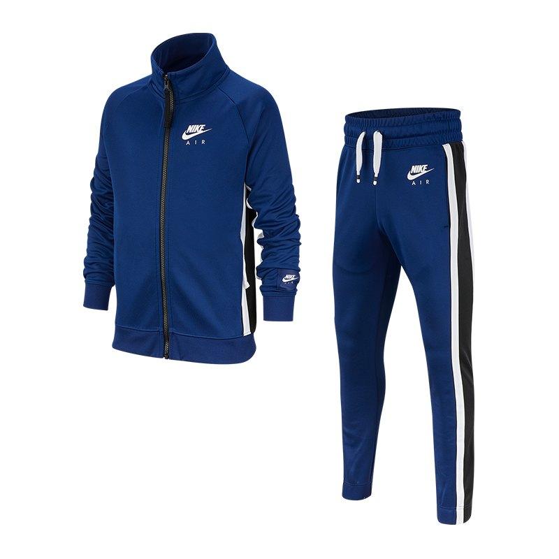 Nike Air Tracksuit Trainingsanzug Kids Blau F492 - blau