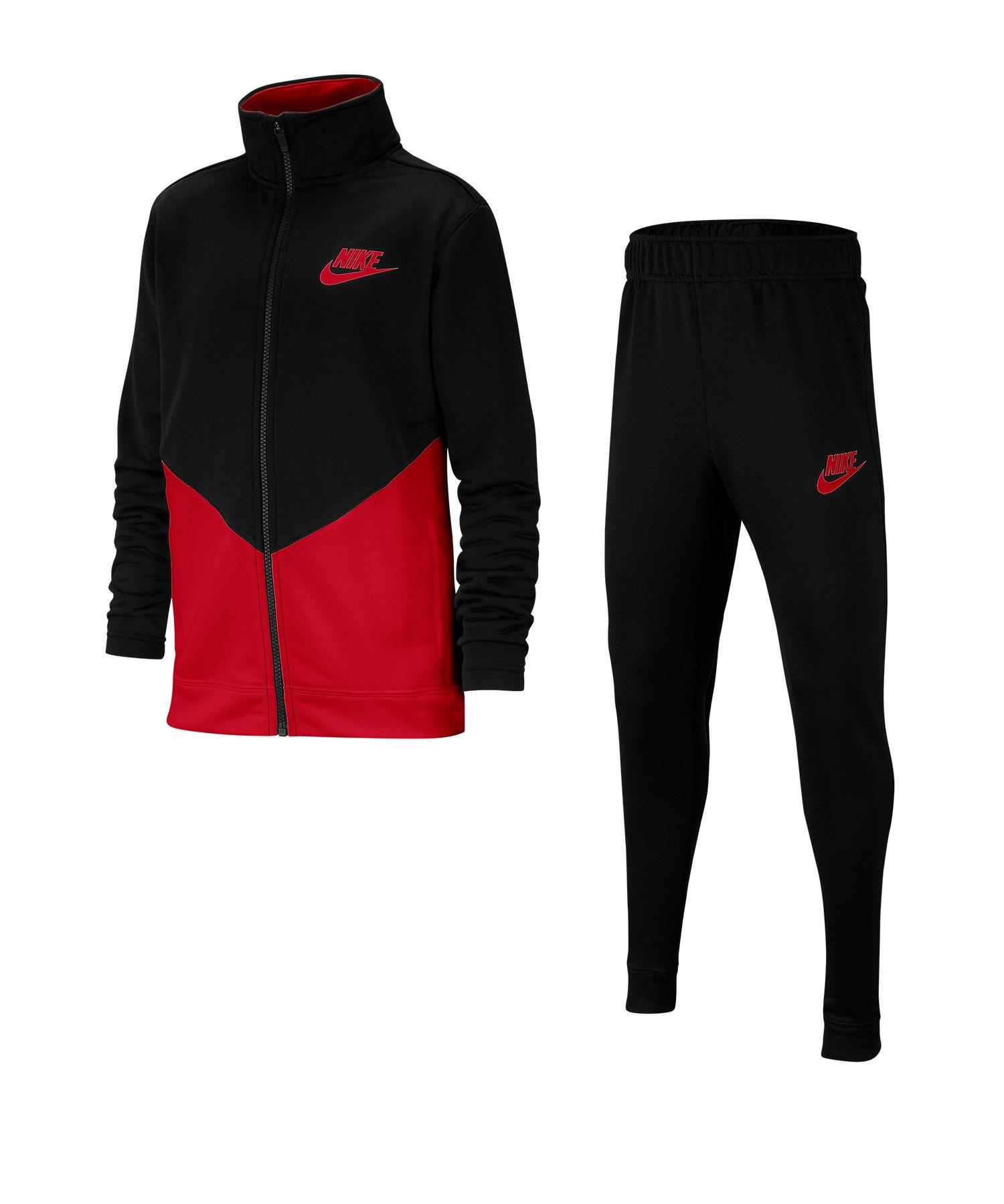 Nike Tracksuit Trainingsanzug Kids Schwarz F010 - schwarz