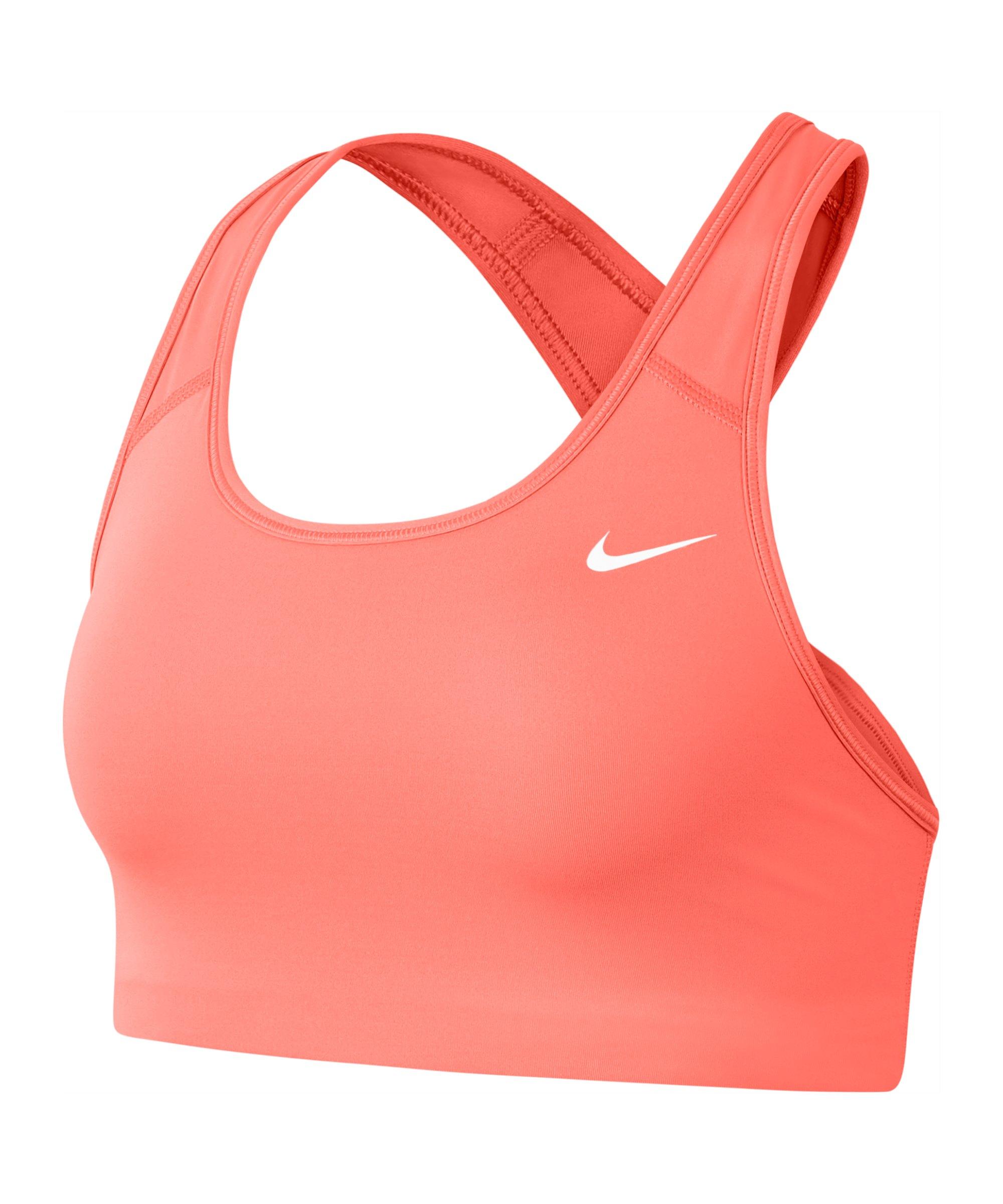 Nike Swoosh Bra Sport-BH (ungepolstert) Damen F854 - orange