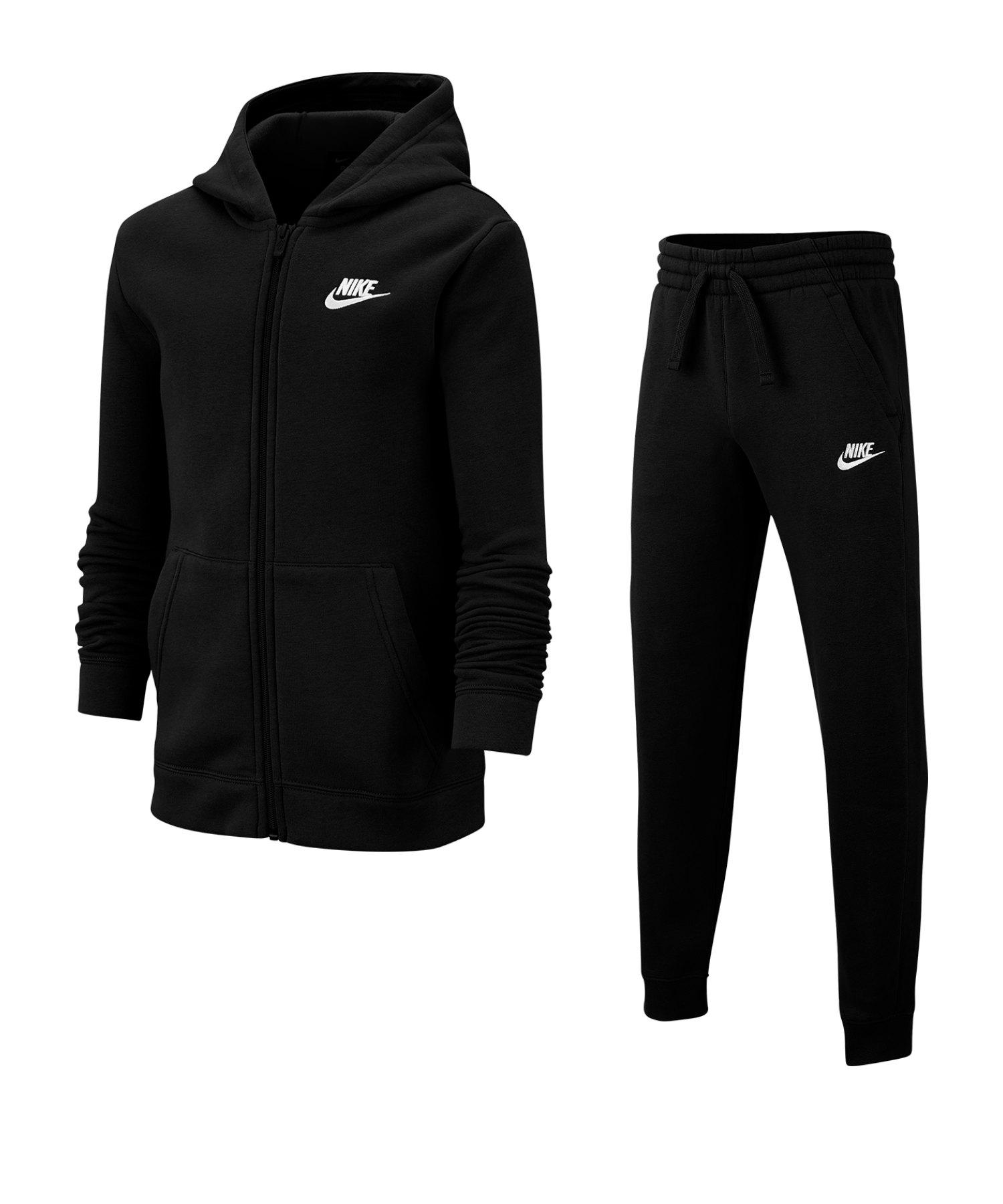 Nike Freizeitanzug Kids Schwarz F010 - schwarz