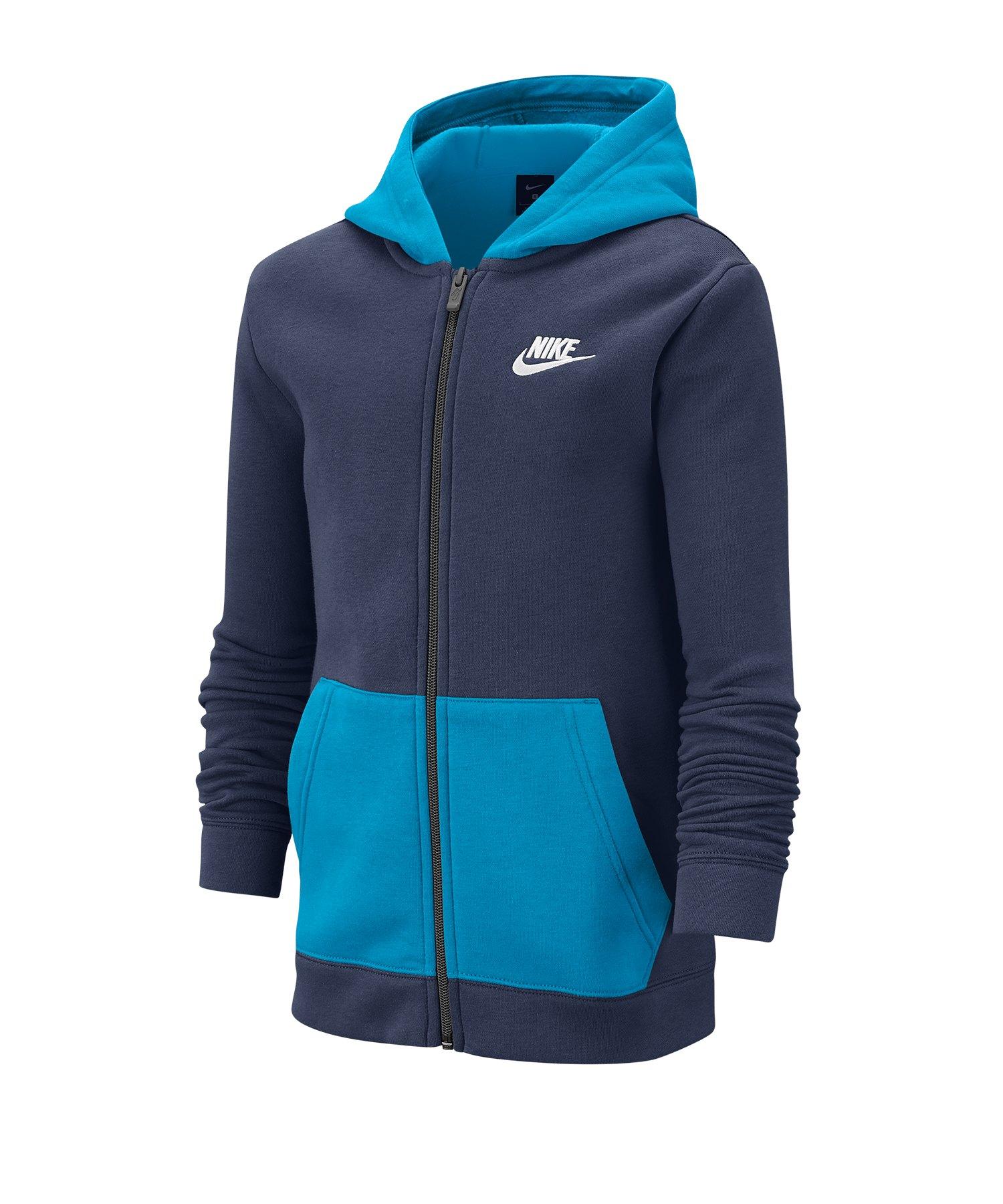 Nike Tracksuit Trainingsanzug Kids Blau F411 - blau