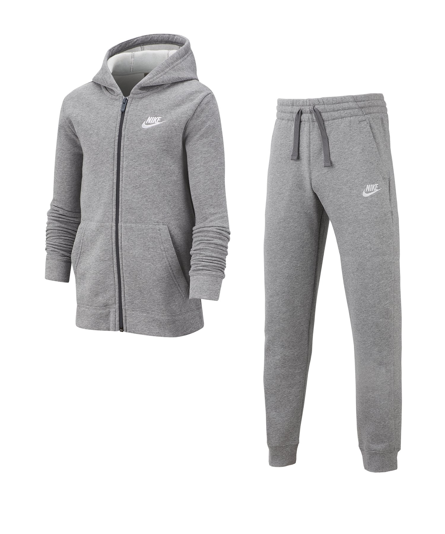 Nike Tracksuit Trainingsanzug Kids Grau F091 - grau