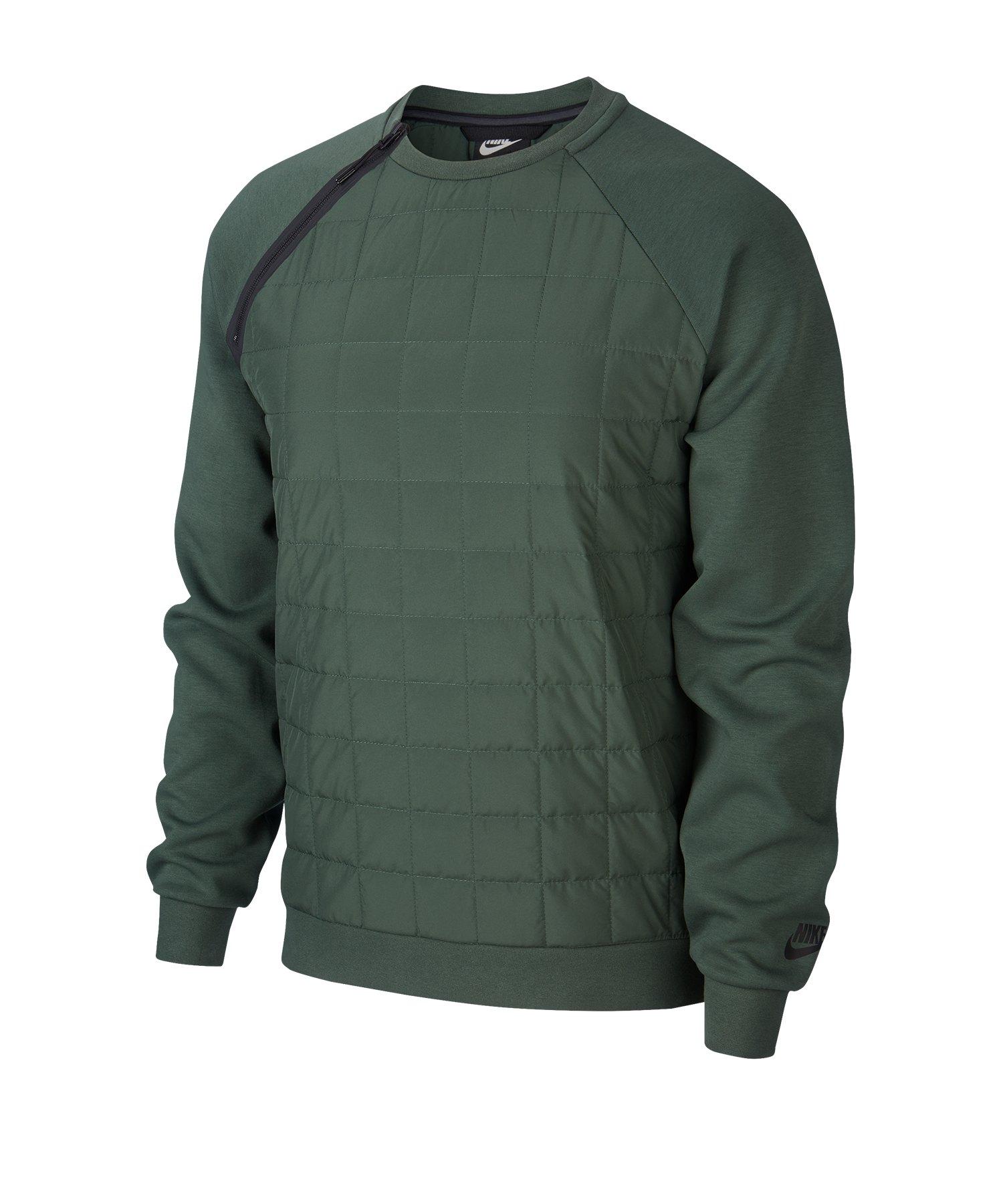 Nike Crew Sweatshirt Grün F337 - gruen