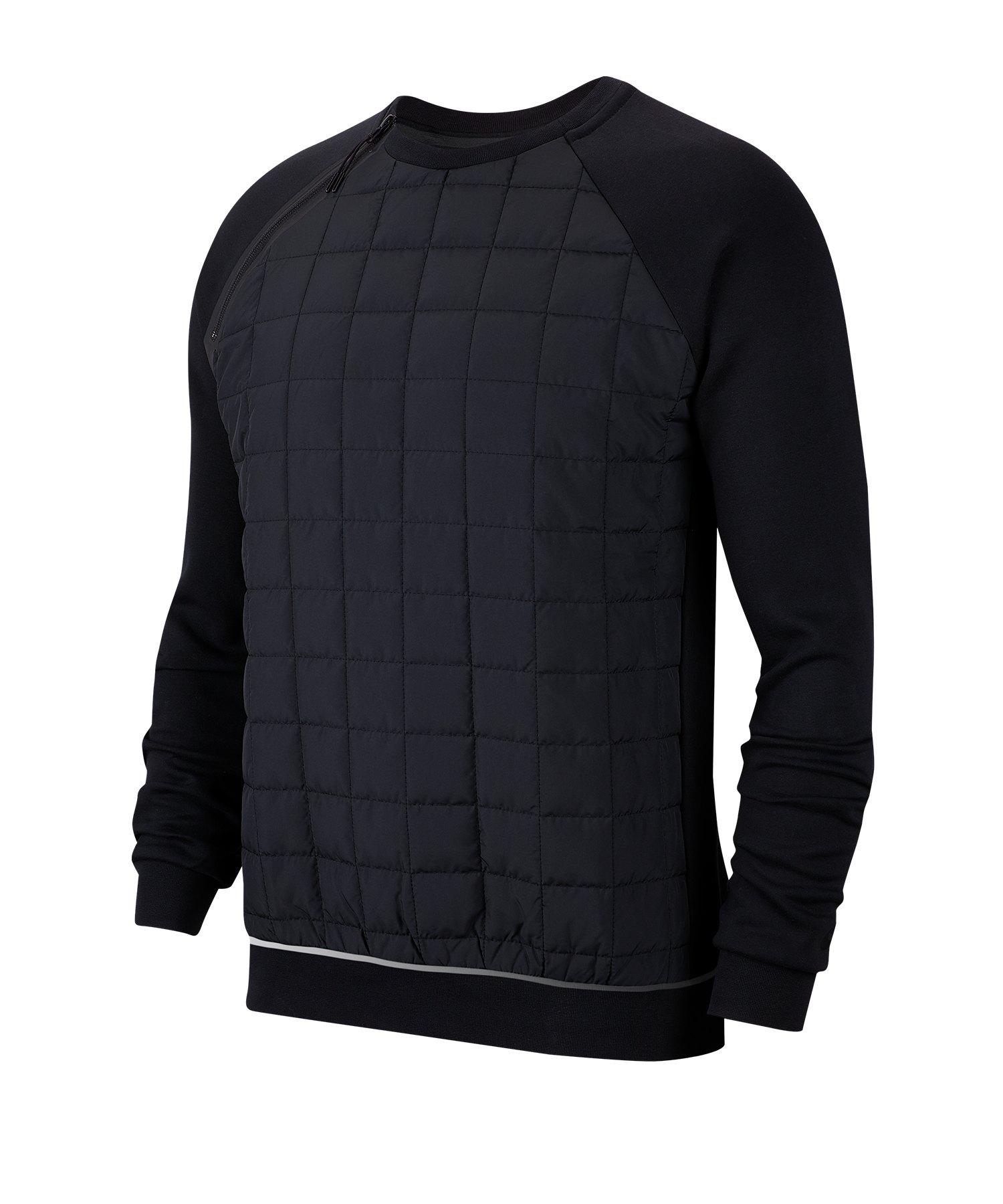Nike Crew Sweatshirt Schwarz F010 - schwarz