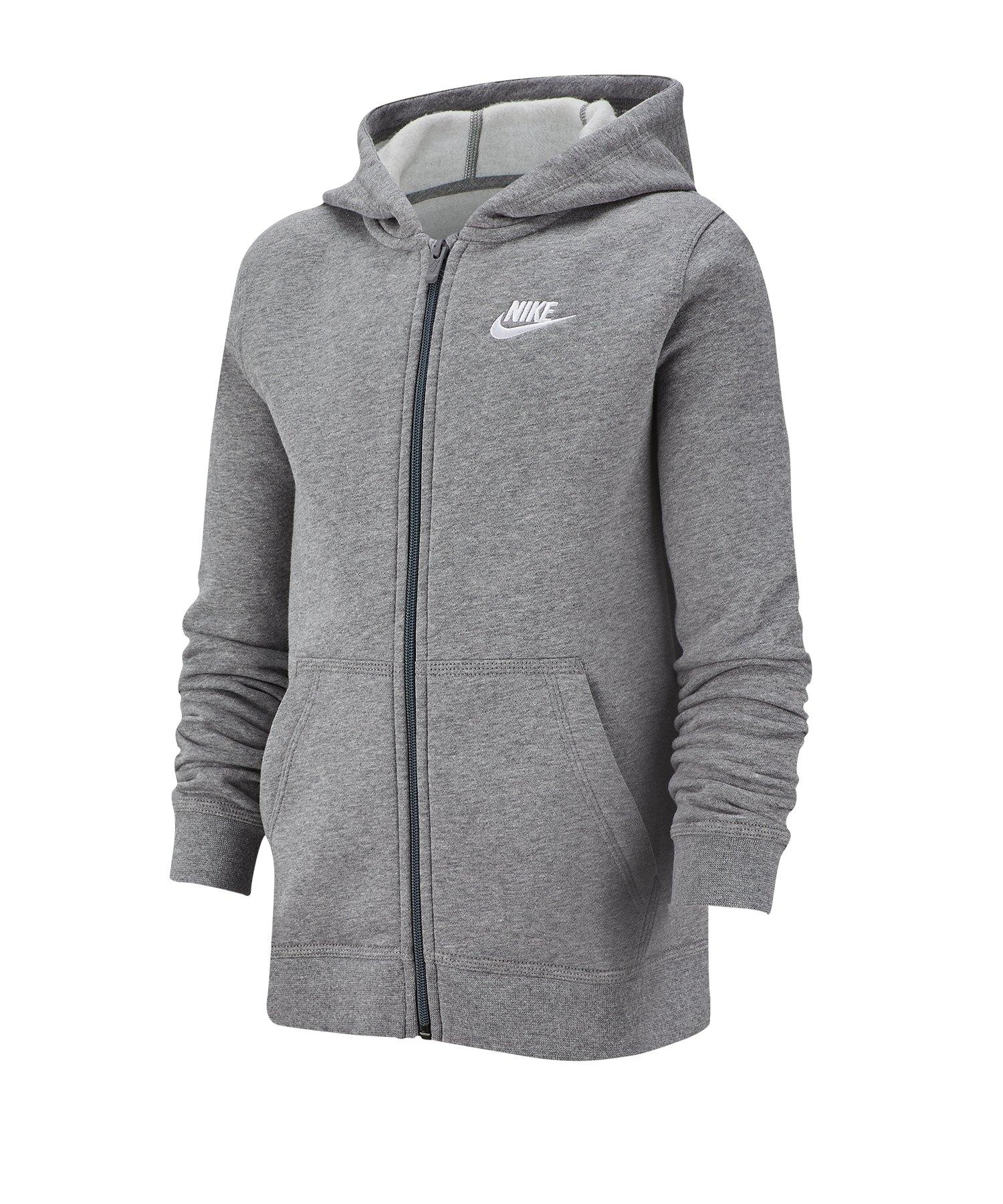 Nike Full-Zip Kapuzenjacke Kids Grau F011 - grau
