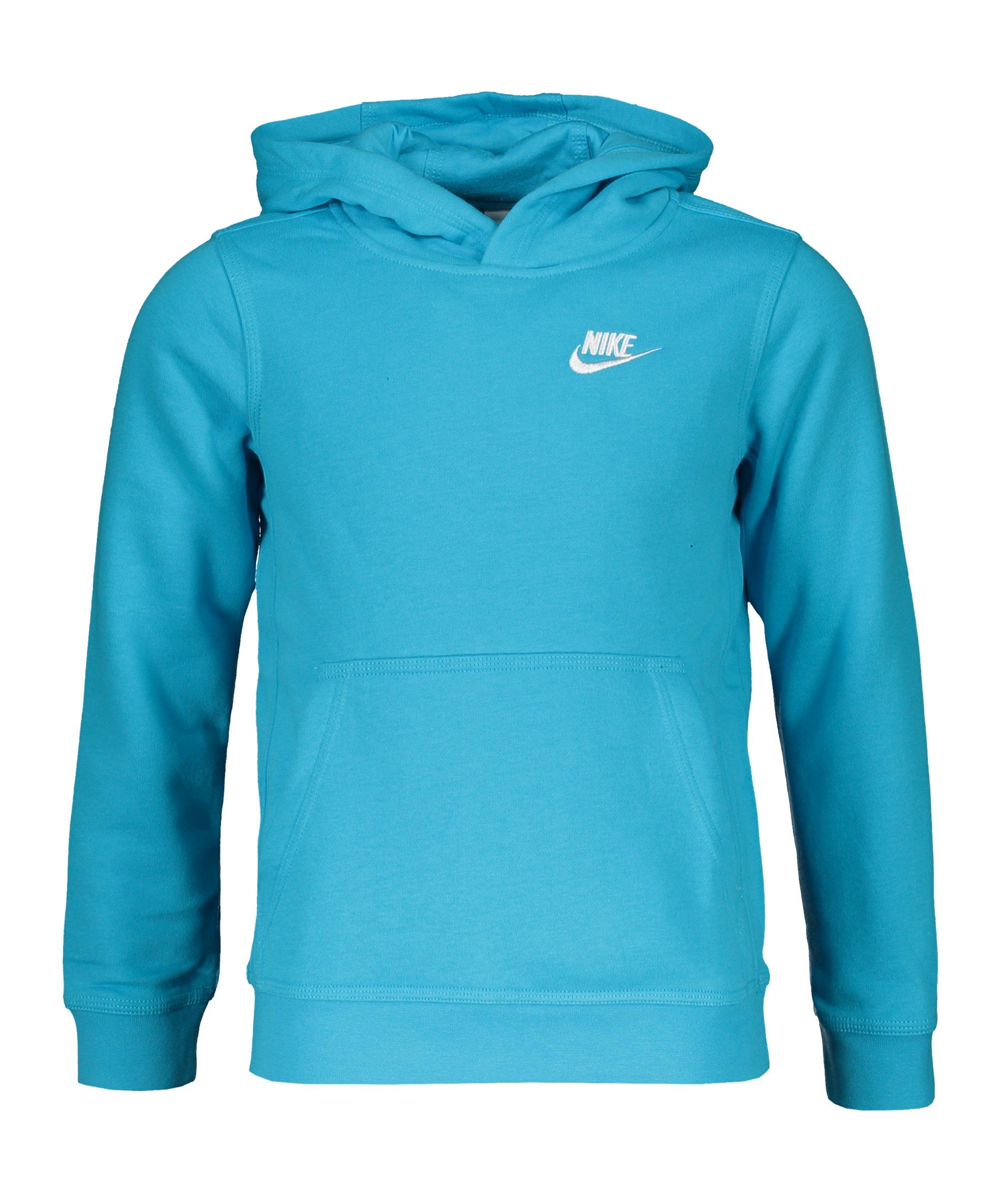 Nike Club Hoody Kids Blau Weiss F447 - blau