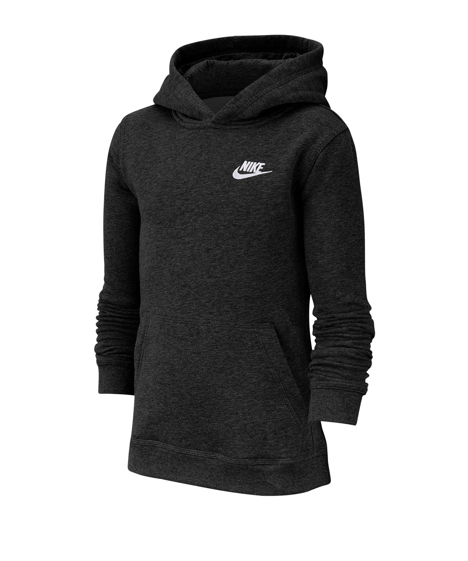 Nike Club Hoody Kids Schwarz F011 - schwarz