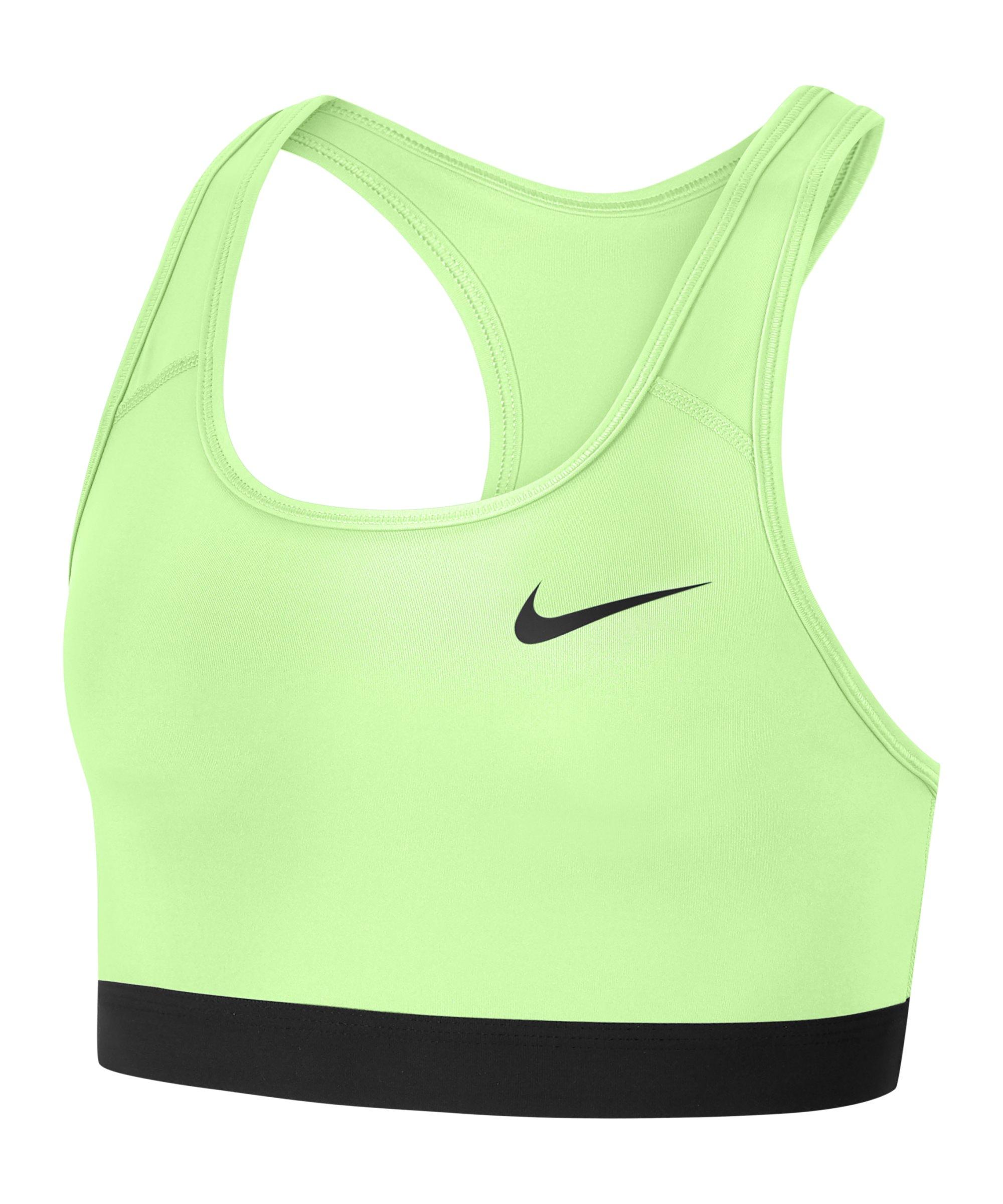 Nike Medium Support Sport-BH Damen Schwarz F701 - gruen