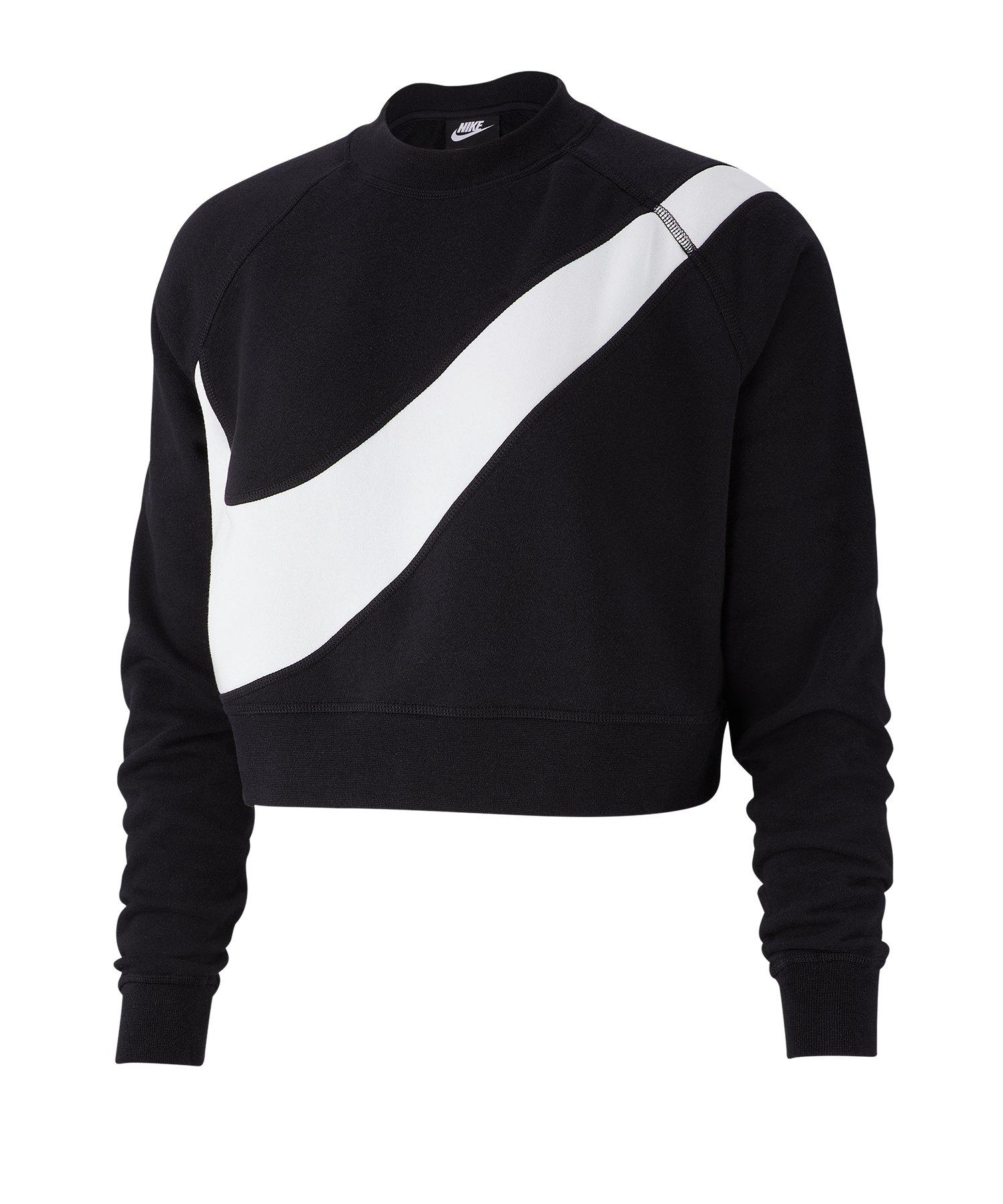 Nike Swoosh Sweatshirt Damen F011 - schwarz
