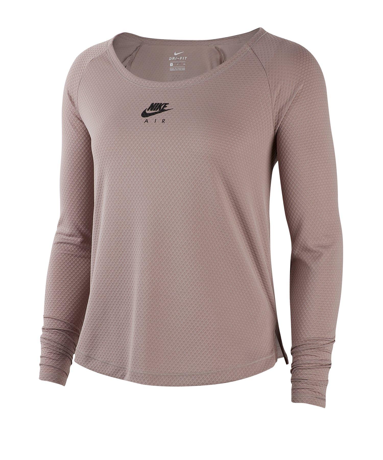 Nike Running Shirt langarm Damen Braun F218 - braun