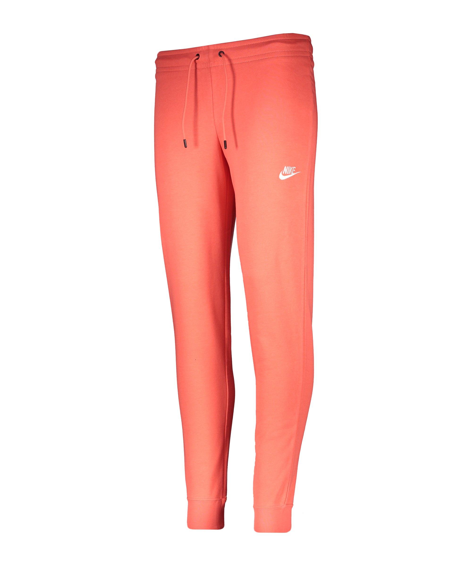 Nike Essential Fleece Jogginghose Damen Rot F814 - orange