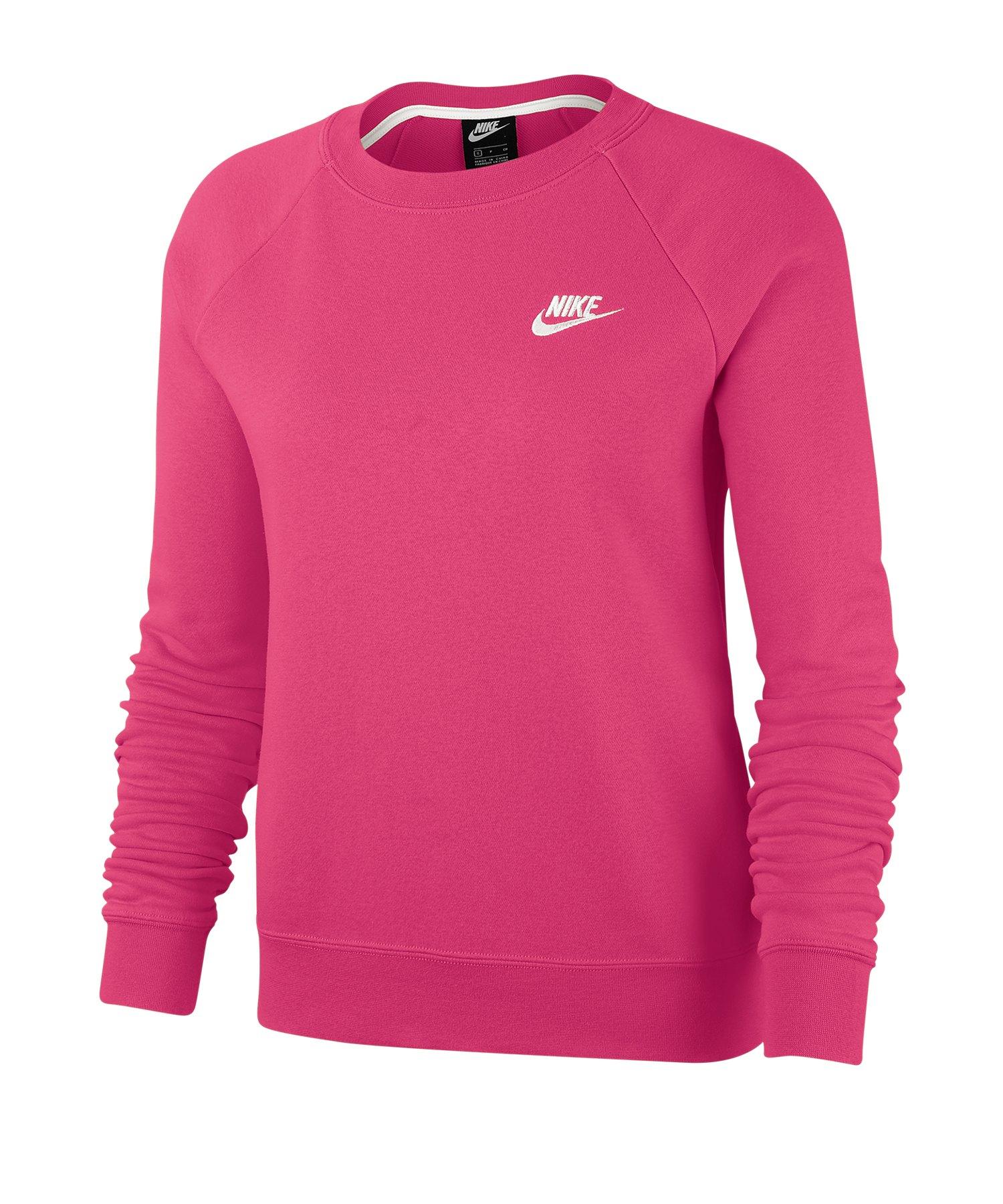 Nike Essential Fleece Pullover Damen Rosa F674 - rosa