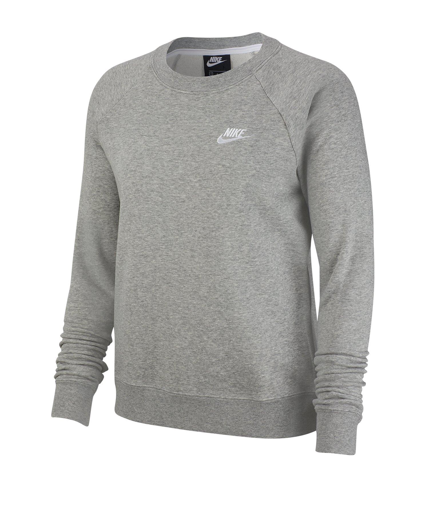 Nike Essential Fleece Sweatshirt Damen Grau F063 - grau