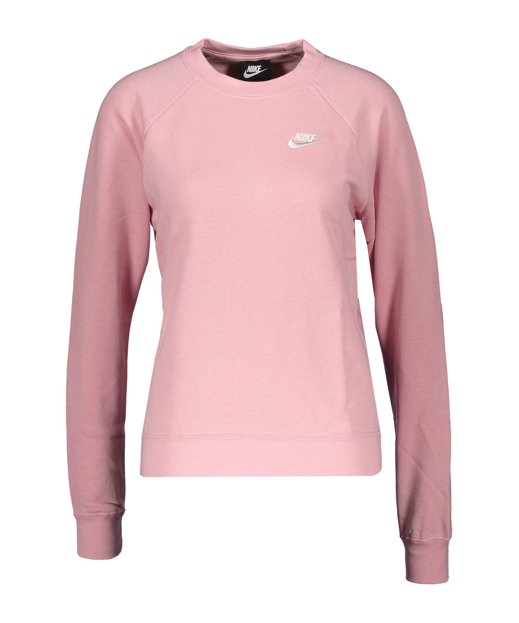 Nike Essential Fleece Sweatshirt Damen Rosa F632 - rosa