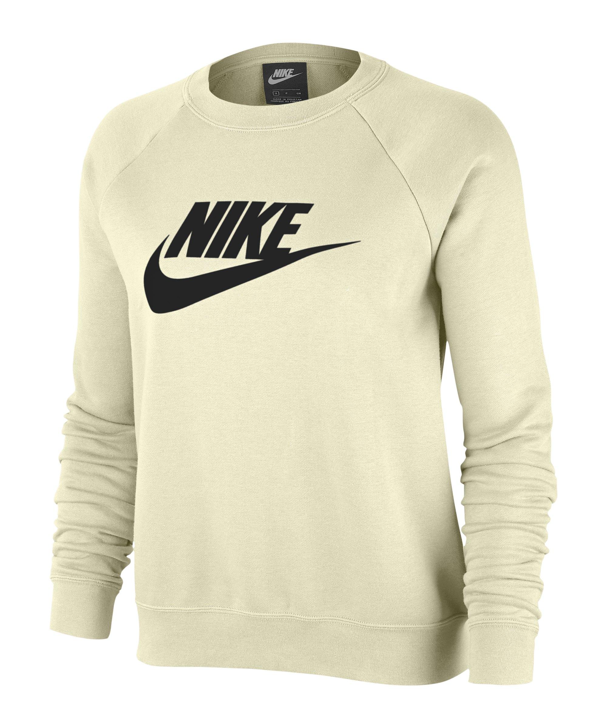 Nike Crew Fleece Sweatshirt Damen Beige F113 - beige