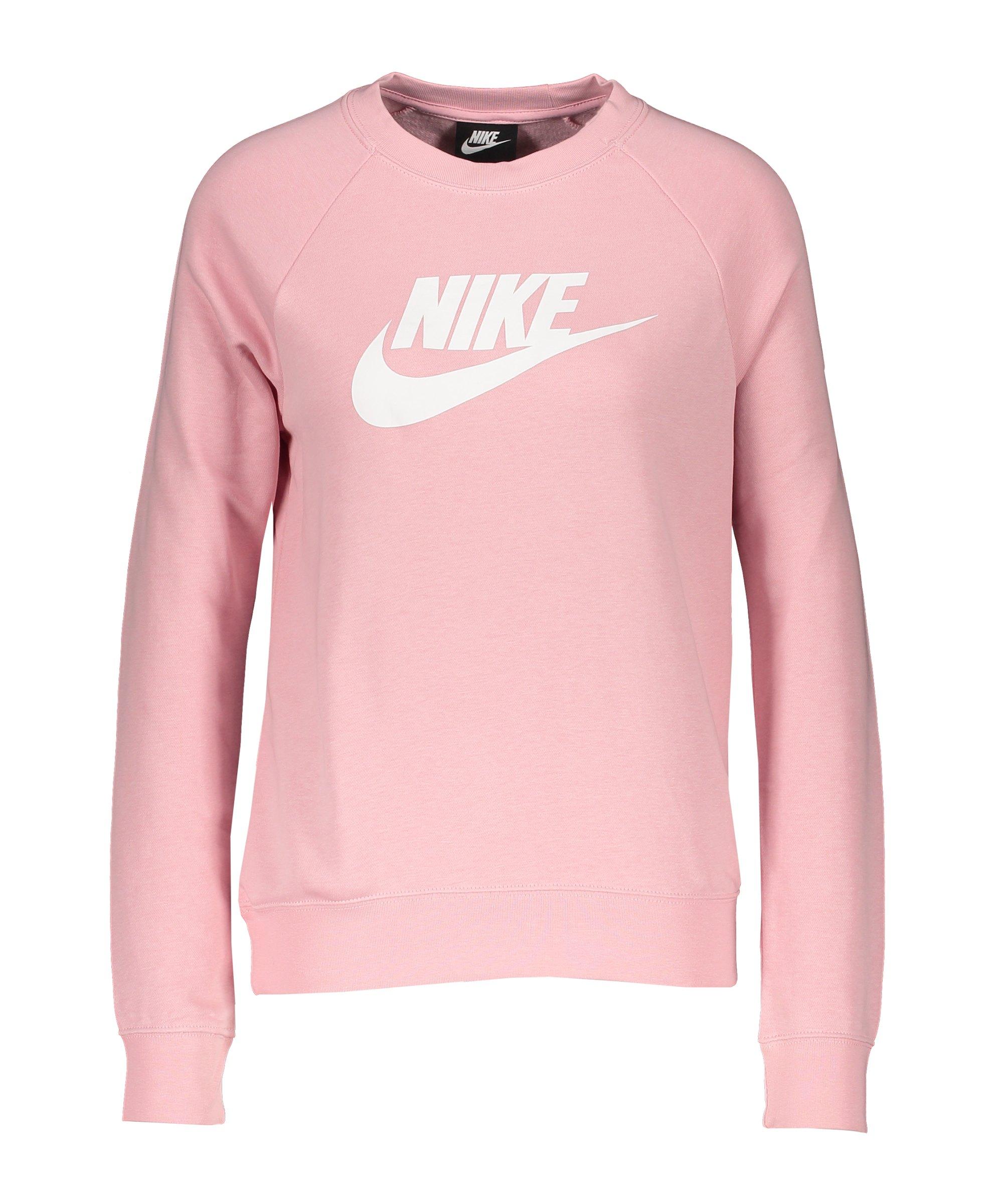 Nike Crew Fleece Sweatshirt Damen Pink Weiss F632 - pink