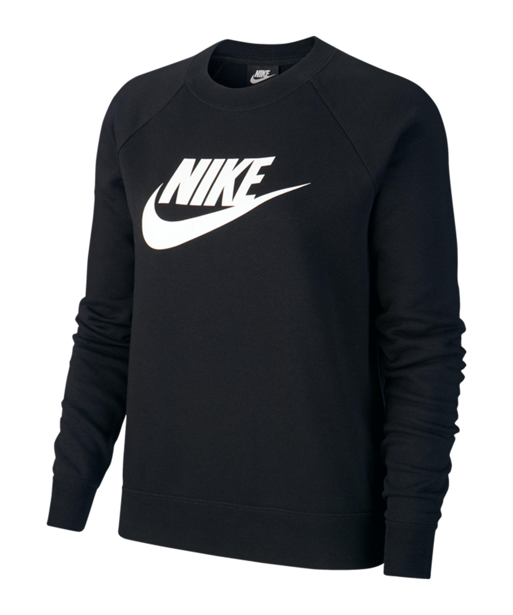 Nike Crew Fleece Sweatshirt Damen Schwarz F010 - schwarz