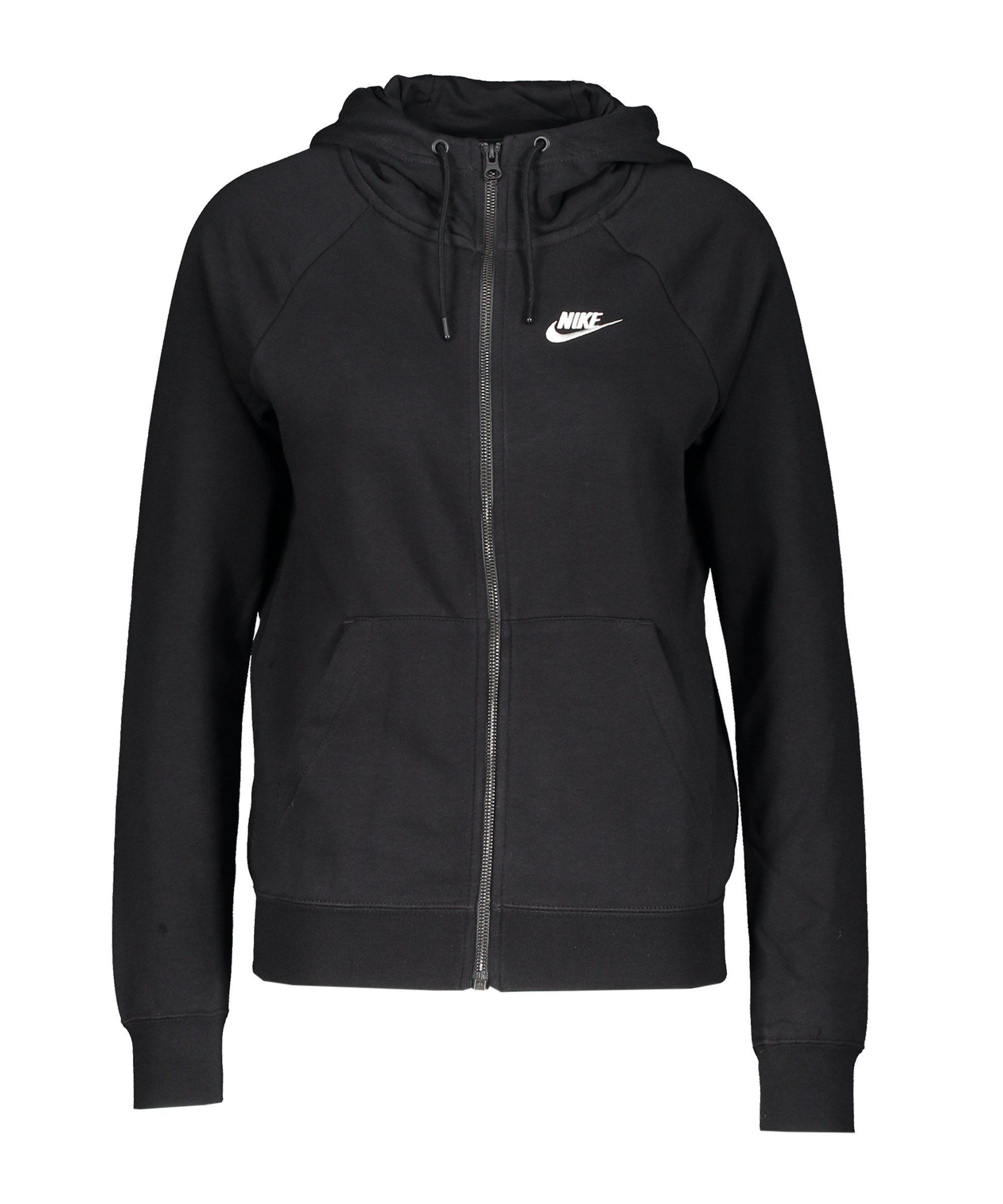 Nike Essential Fleece Kapuzenjacke Damen F010 - schwarz