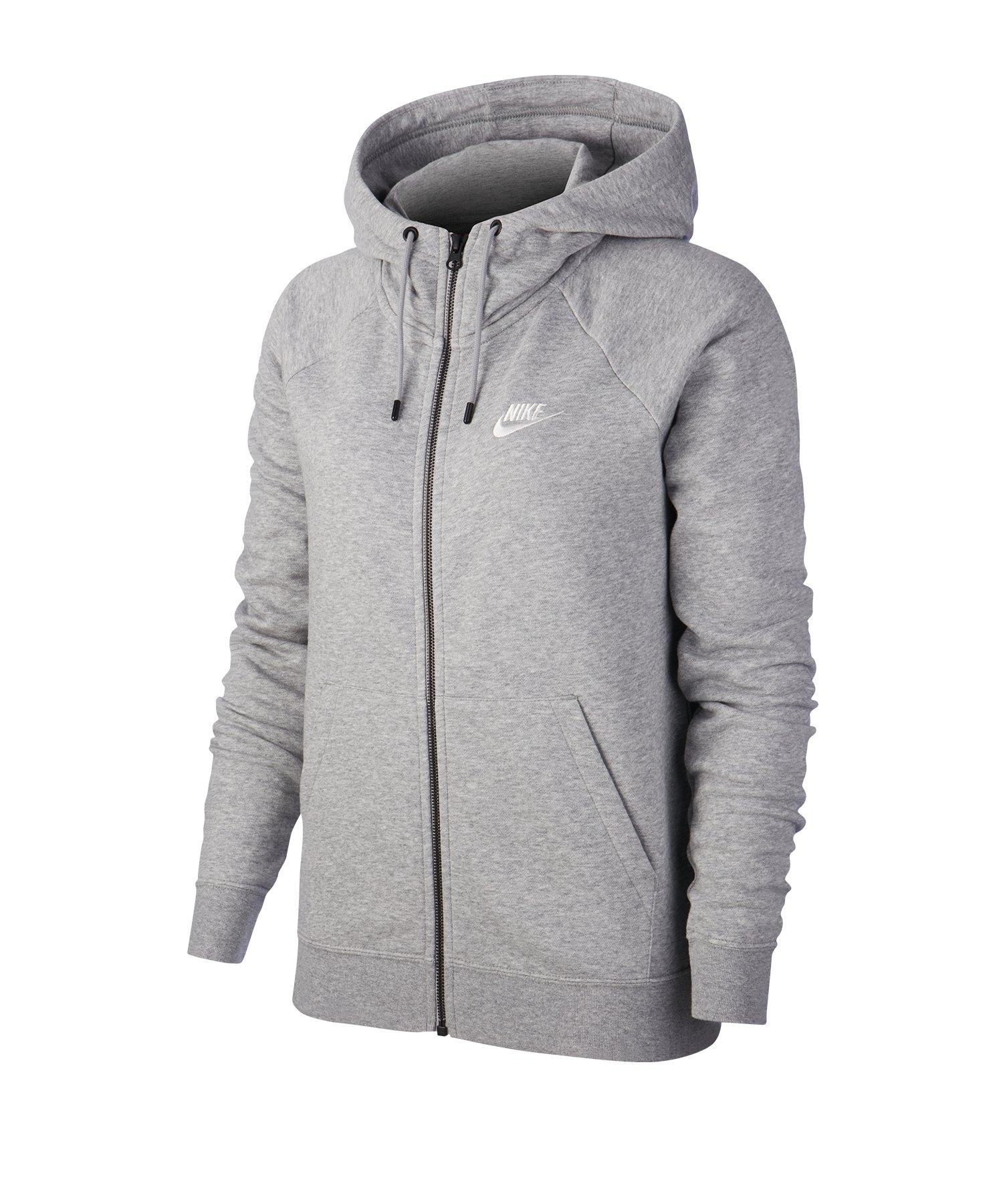 Nike Essential Fleece Kapuzenjacke Damen Grau F063 - grau