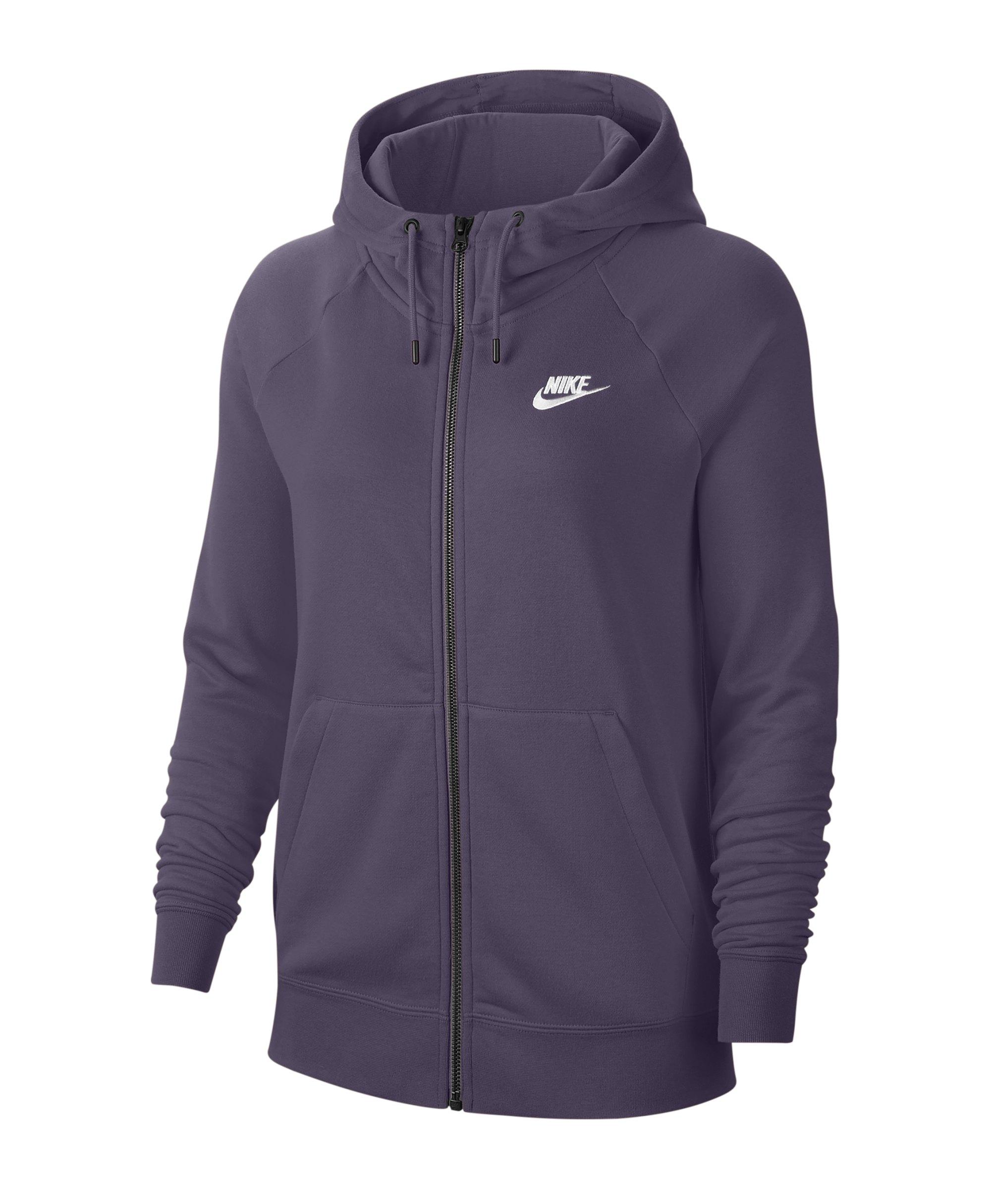 Nike Essential Fleece Kapuzenjacke Damen Lila F574 - lila
