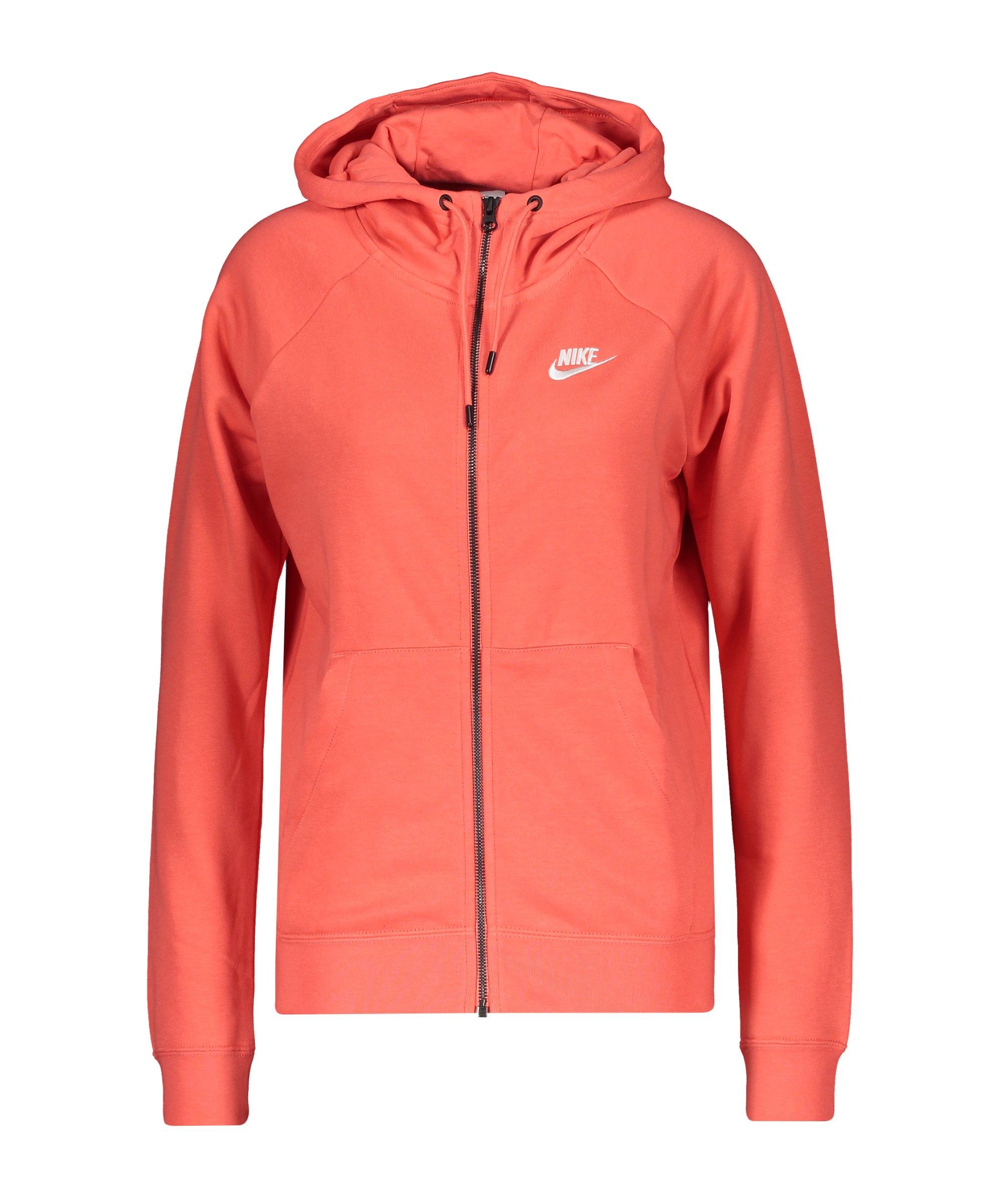 Nike Essential Fleece Kapuzenjacke DamenF815 - orange