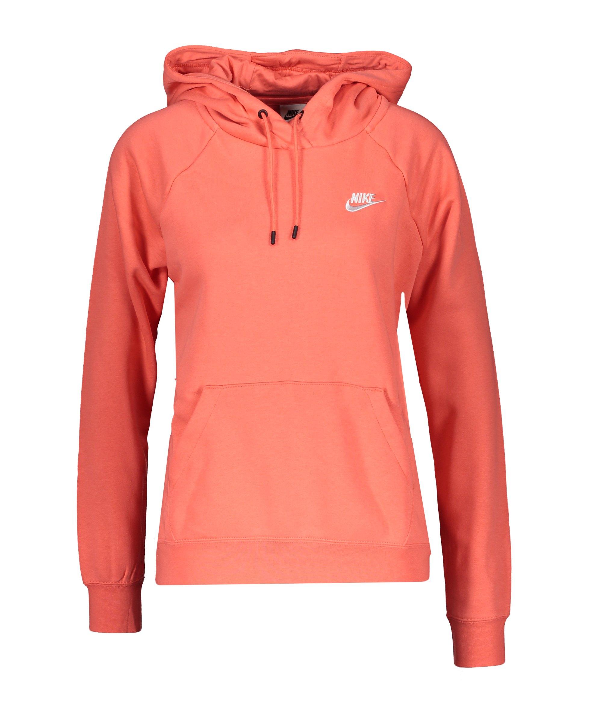 Nike Essential Hoody Damen Orange Weiss F815 - orange